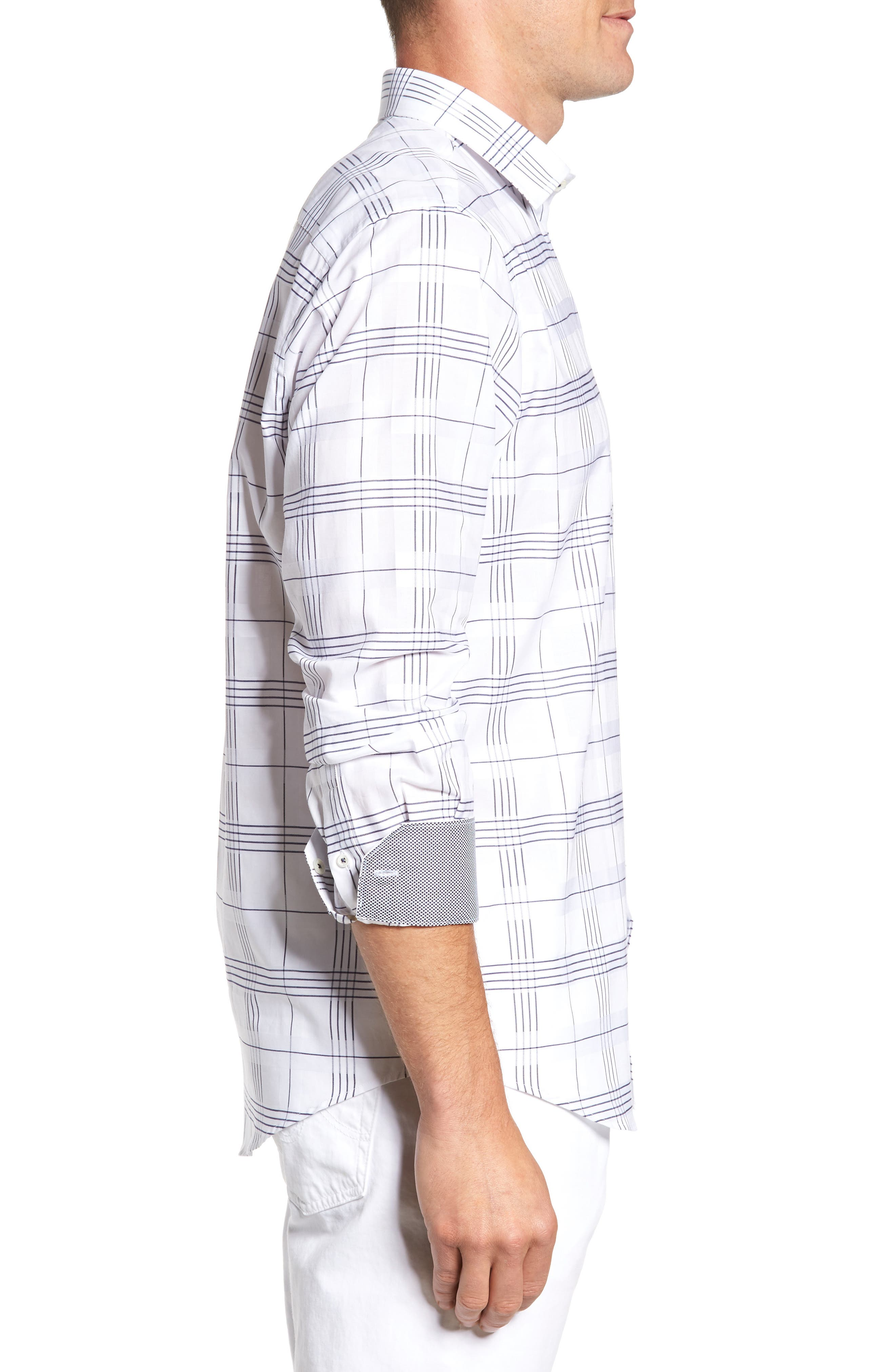 Alternate Image 3  - Bugatchi Classic Fit Check Sport Shirt