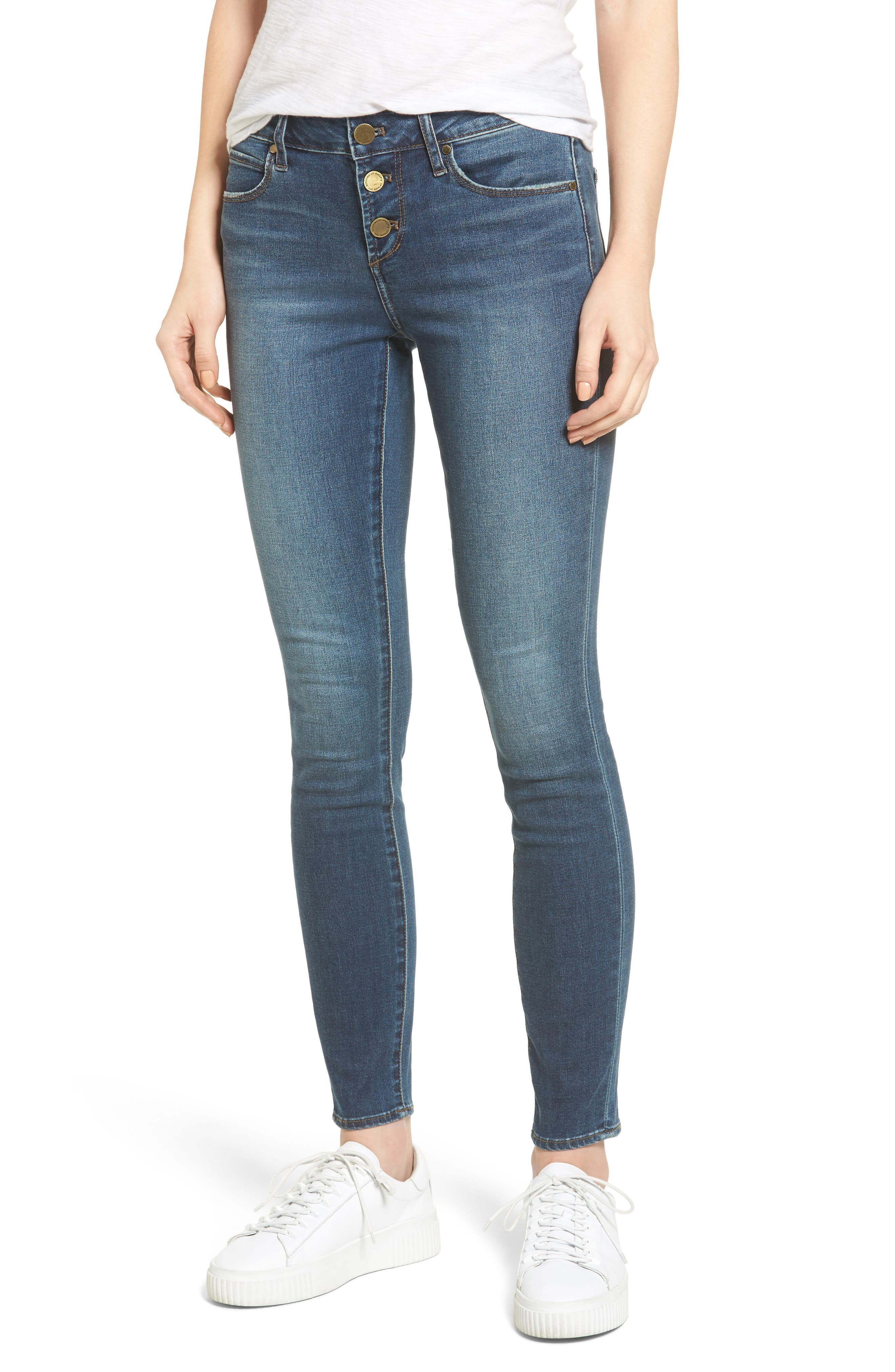 Alternate Image 1 Selected - Articles of Society Britney Skinny Jeans (Harper)