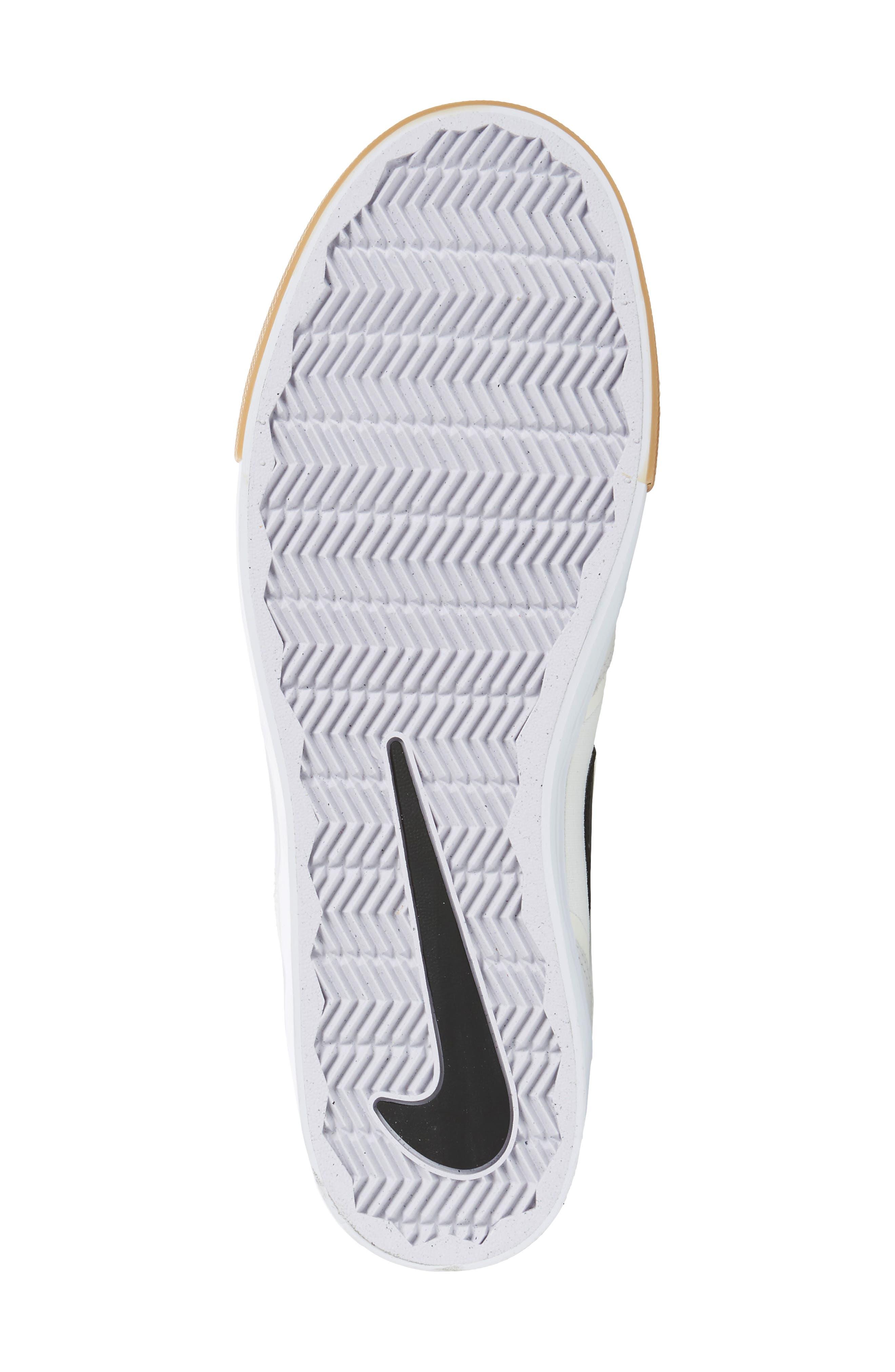 SB Paul Rodriguez 9 VR Skateboarding Sneaker,                             Alternate thumbnail 6, color,                             White/ Black/ Black