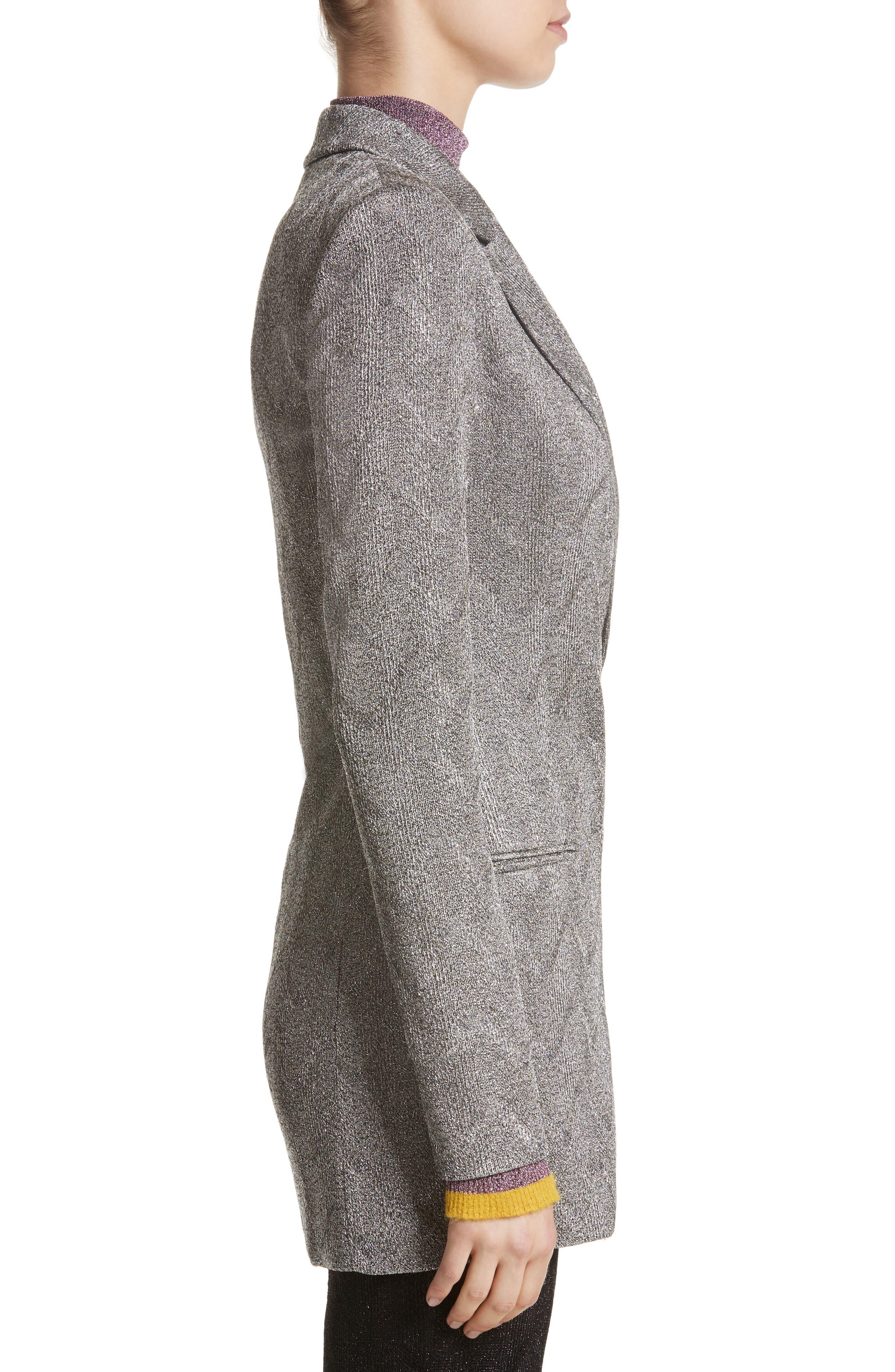 Alternate Image 5  - Missoni Metallic Knit Double Breasted Jacket