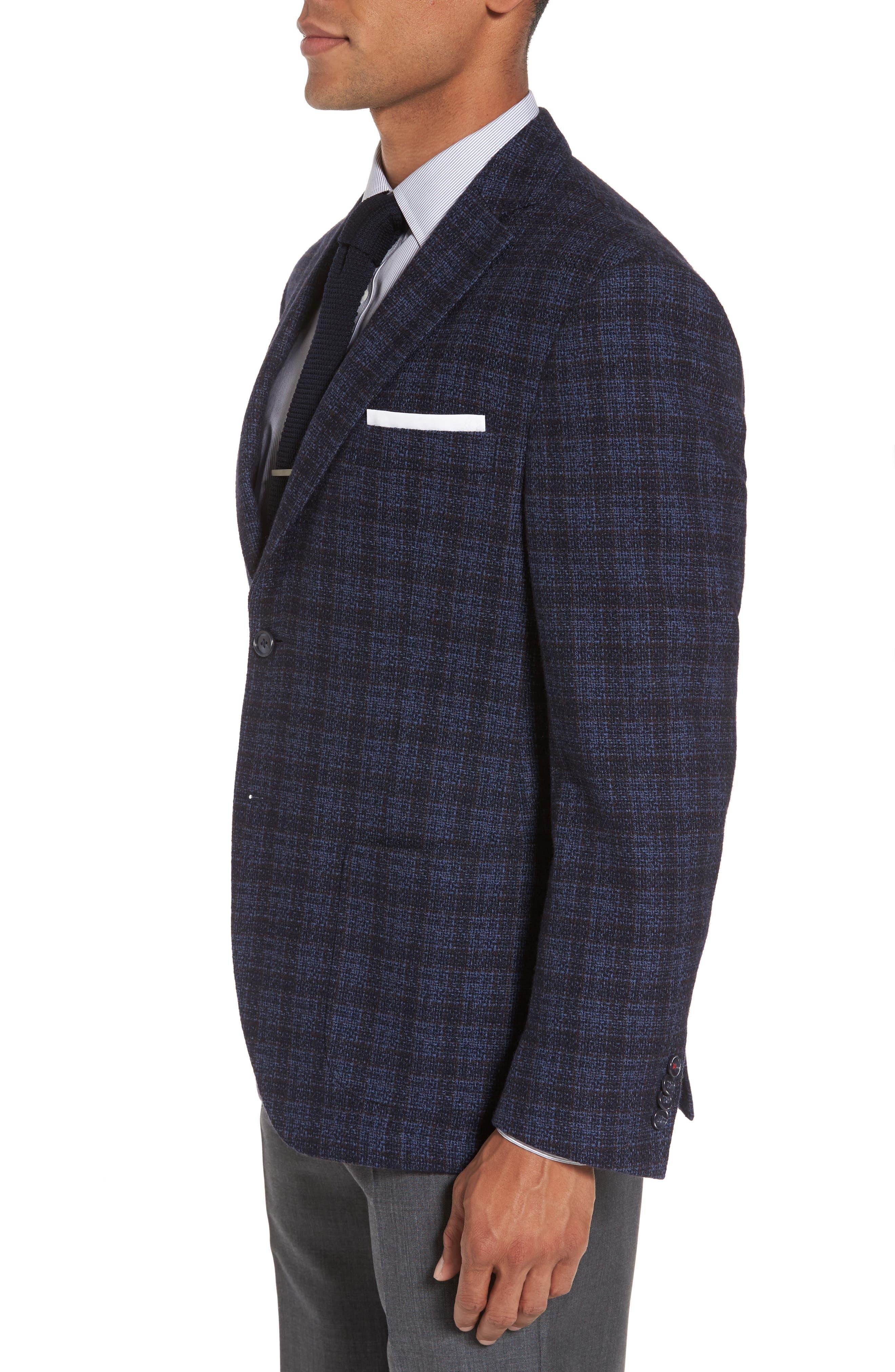 Alternate Image 3  - JKT New York Trim Fit Plaid Cotton Blend Sport Coat