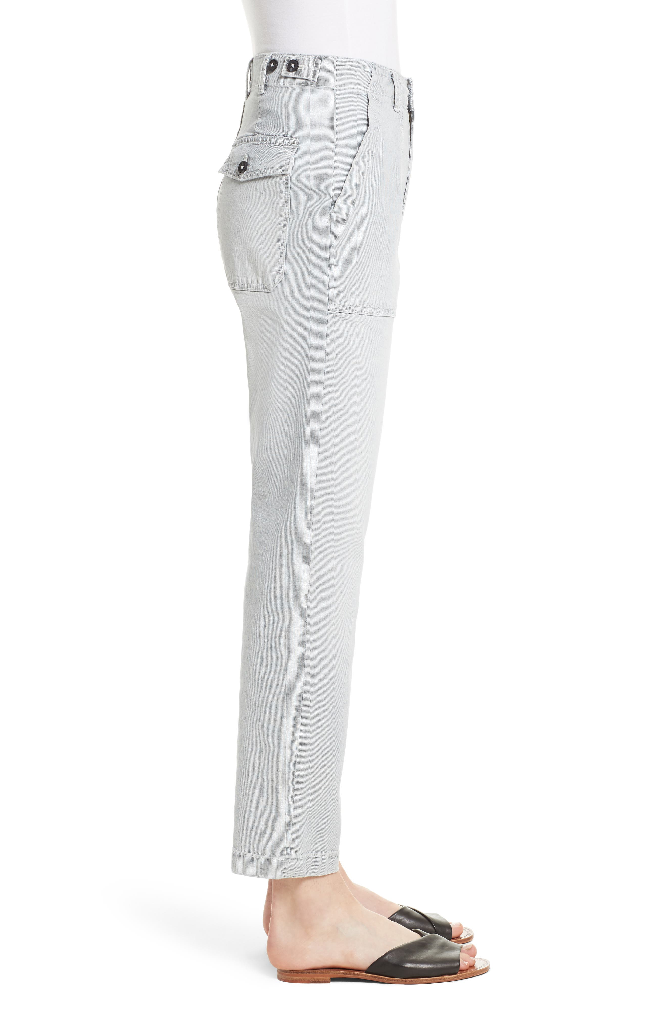 Stripe Ankle Pants,                             Alternate thumbnail 3, color,                             Indigo Combo