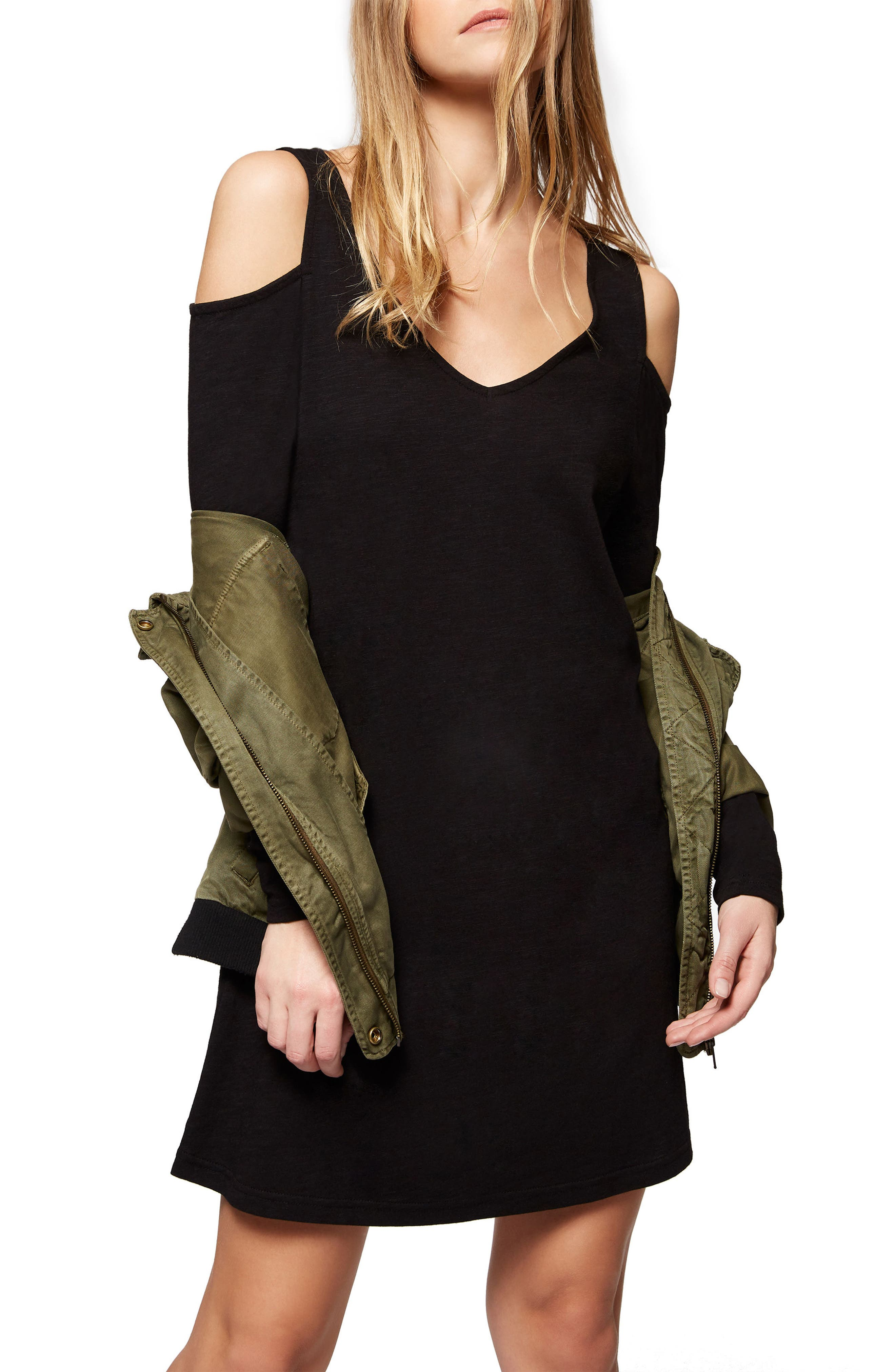 Alternate Image 2  - Sanctuary Morgan Cold Shoulder T-Shirt Dress