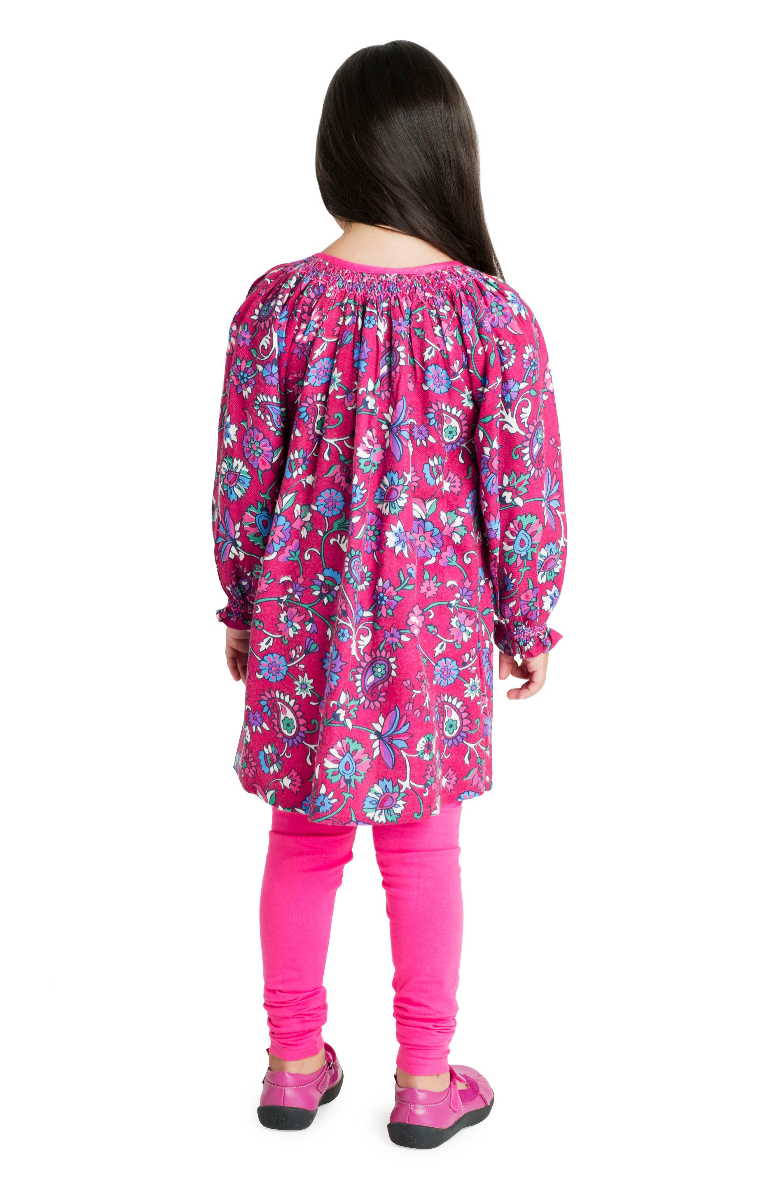 Alternate Image 3  - Masalababy Ada Floral Dress (Toddler Girls, Little Girls & Big Girls)