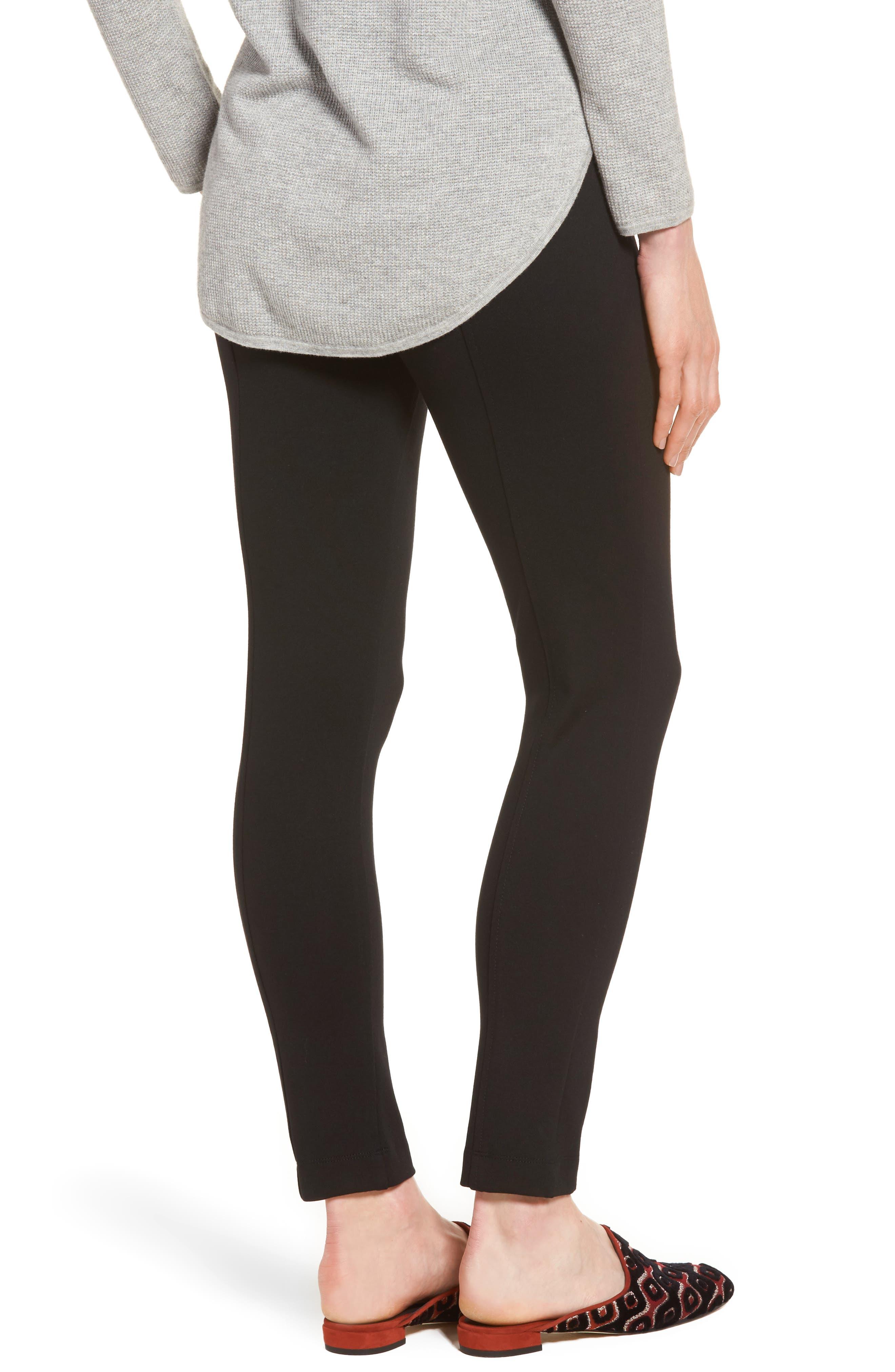 Compression Slim Leg Pants,                             Alternate thumbnail 2, color,                             Black