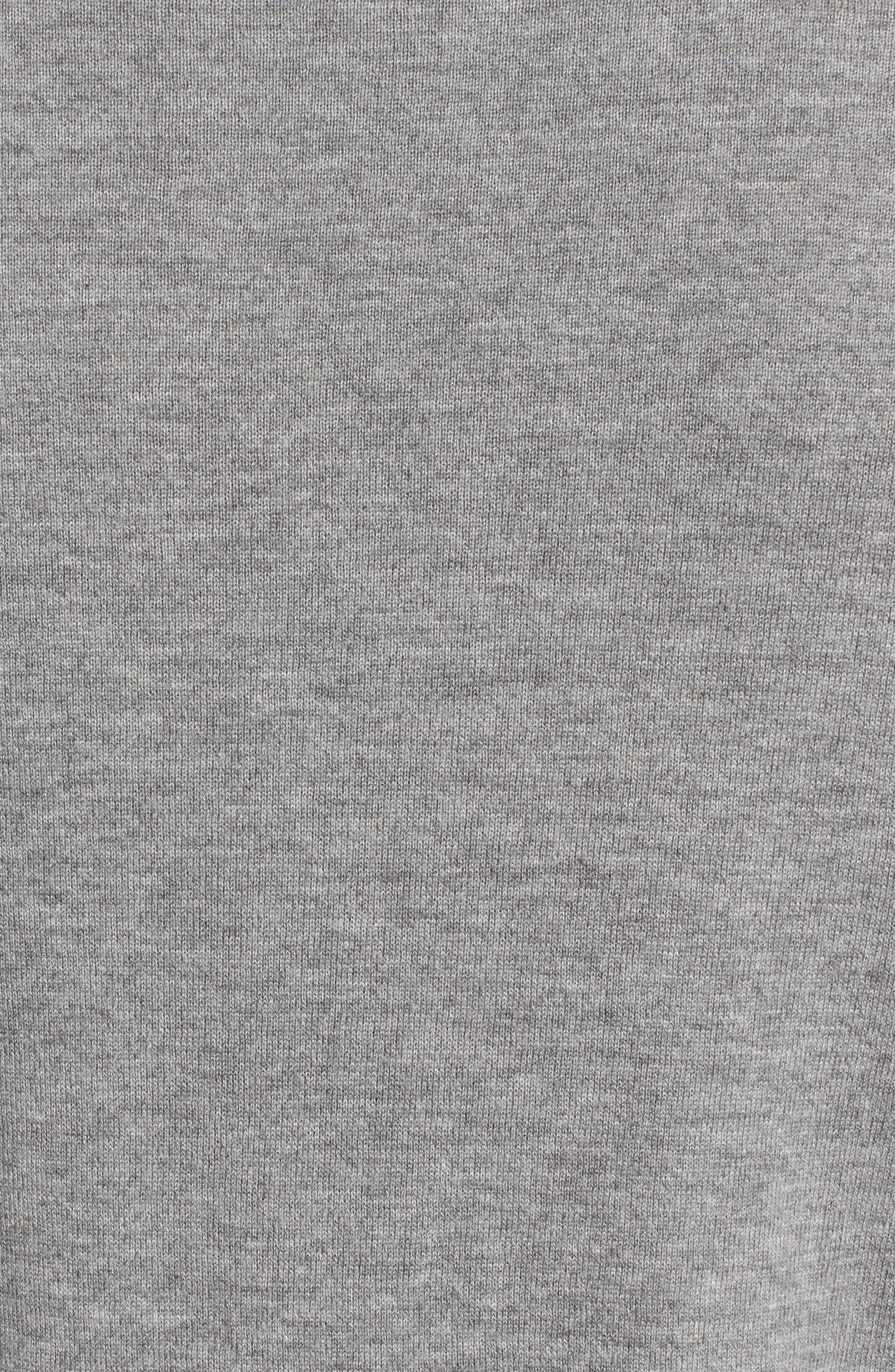 Cashmere Pocket T-Shirt,                             Alternate thumbnail 5, color,                             Grey Heather