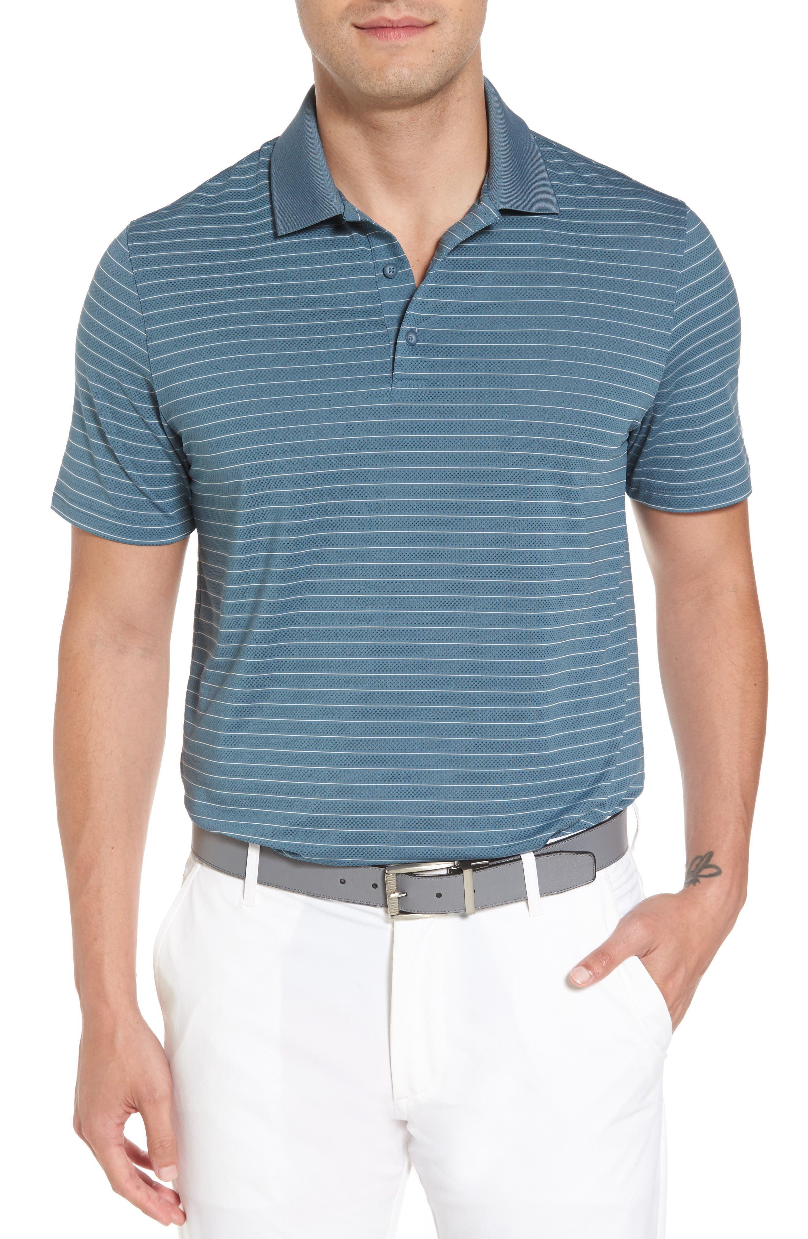 Trexler Stripe Polo,                         Main,                         color, Blue Print