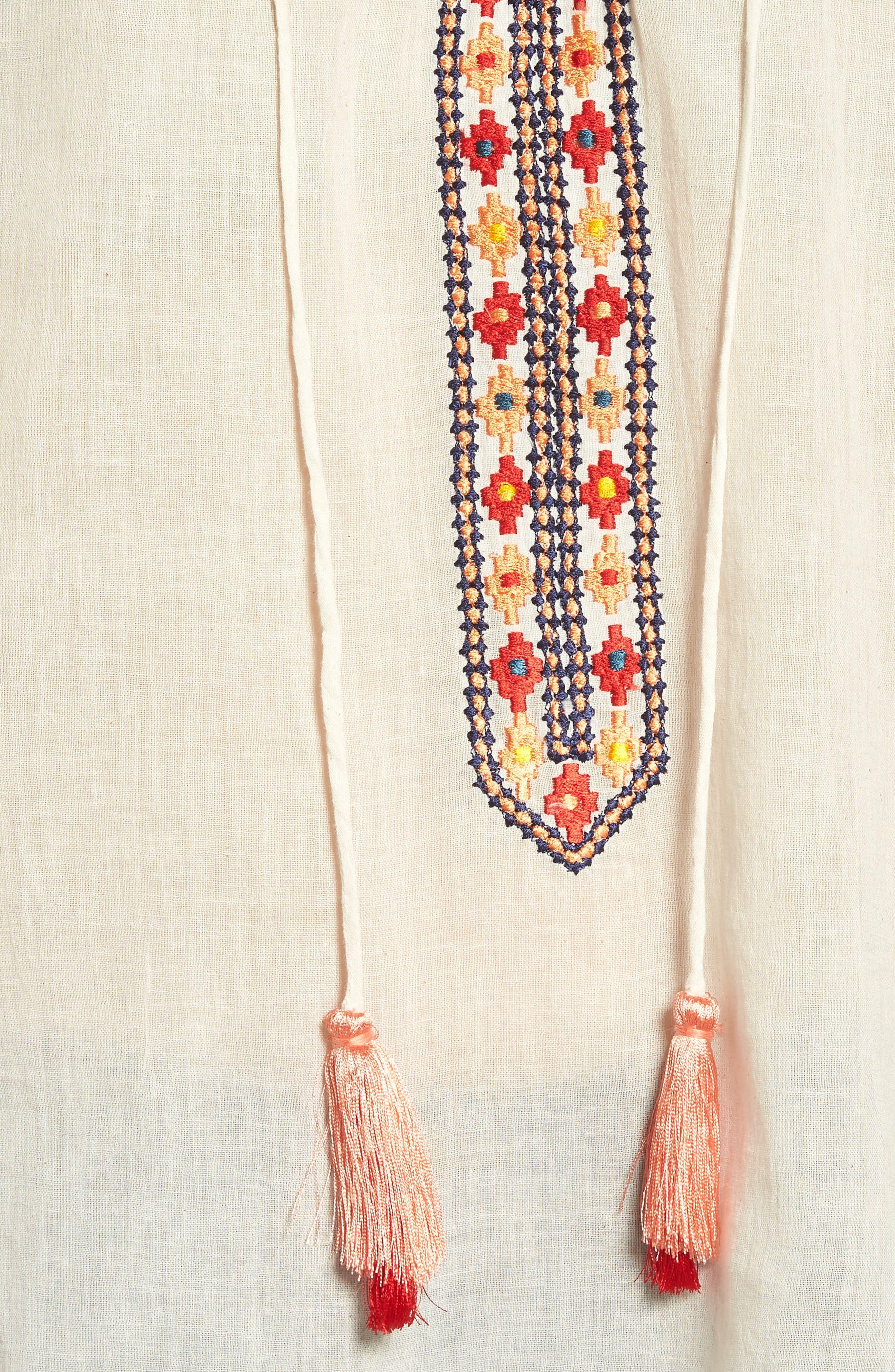 Alternate Image 5  - KAS NEW YORK Juana Embroidered Peasant Top