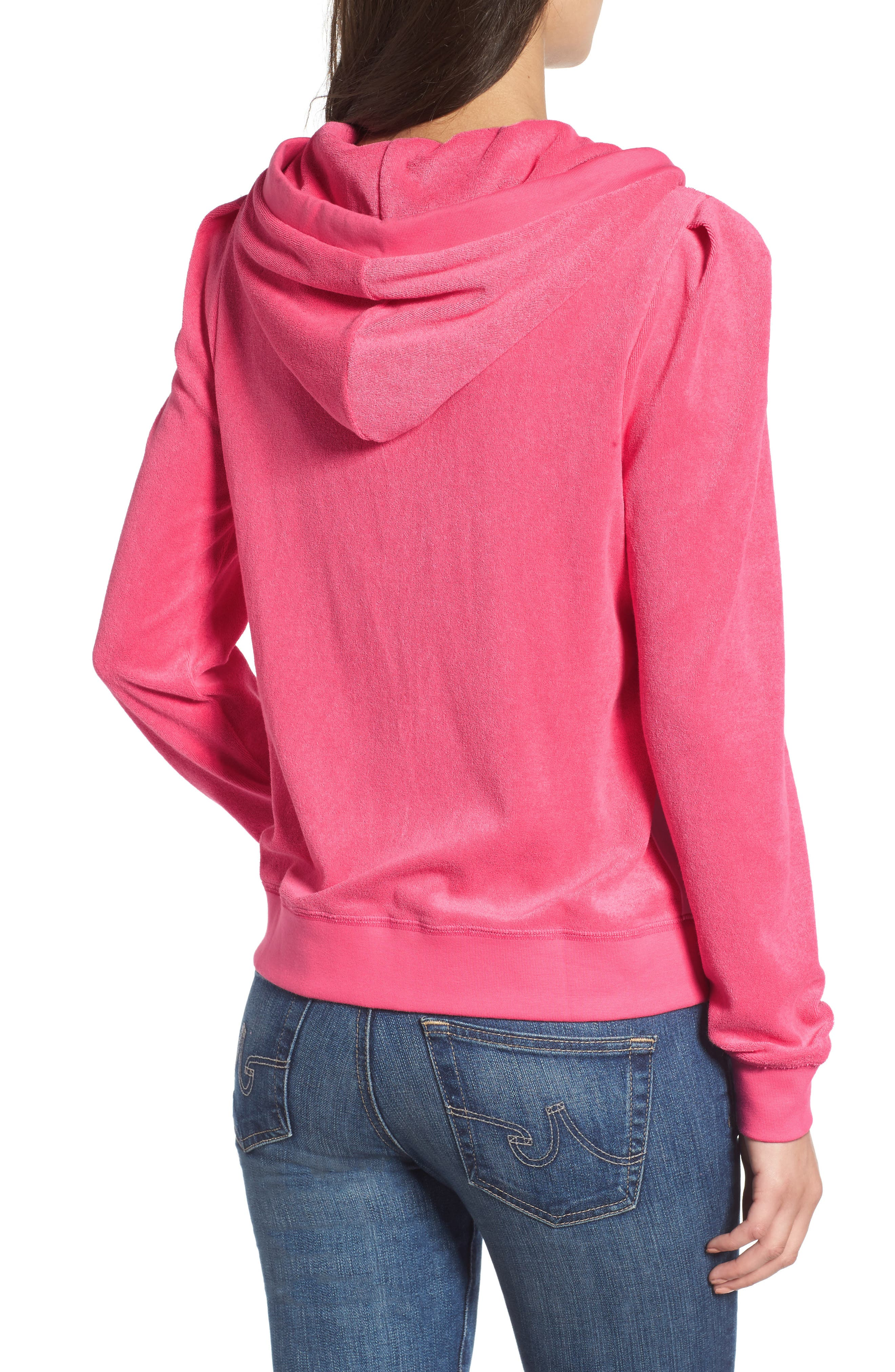 Alternate Image 2  - Juicy Couture Venice Beach Microterry Hoodie