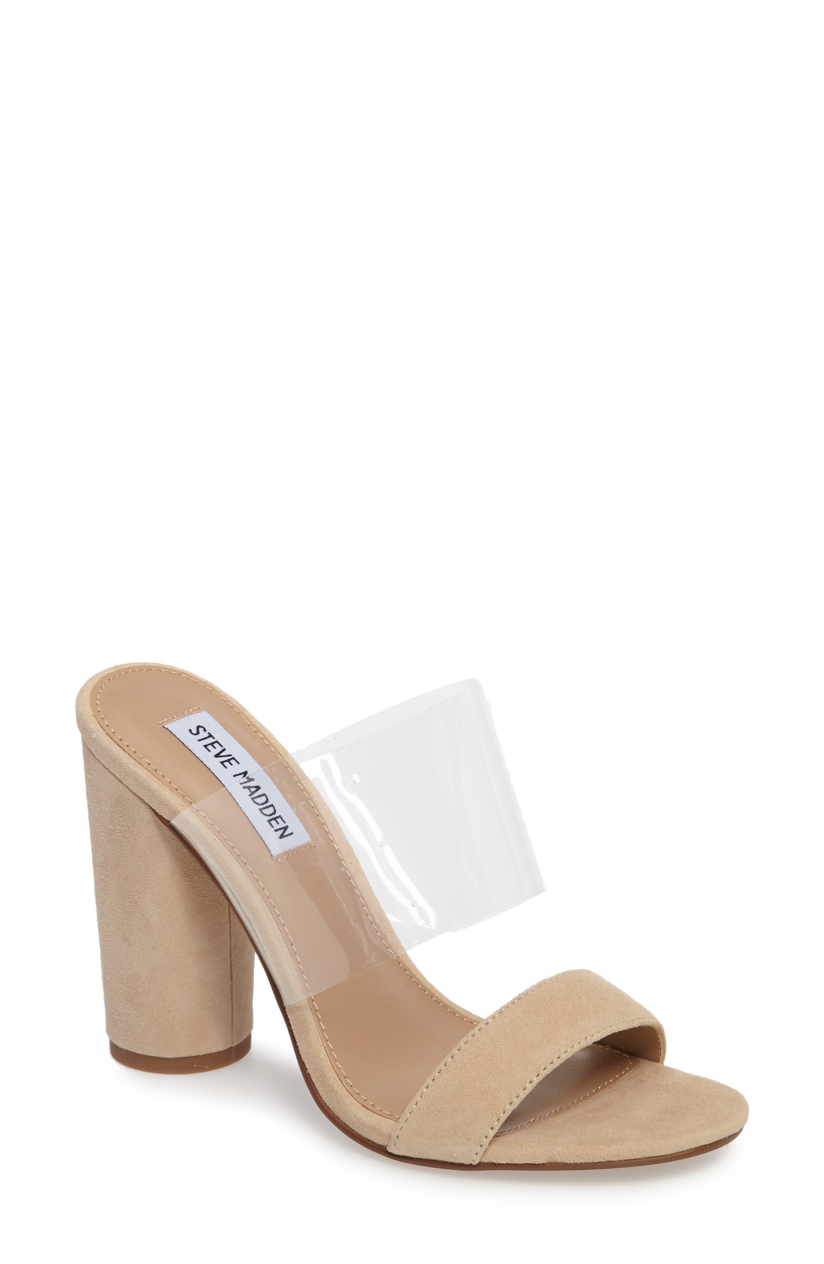 Cheers Slide Sandal,                         Main,                         color, Tan Suede