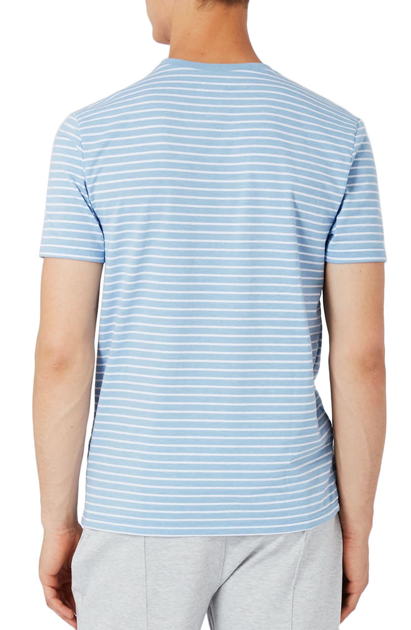 Alternate Image 3  - Topman Crewneck Stripe T-Shirt