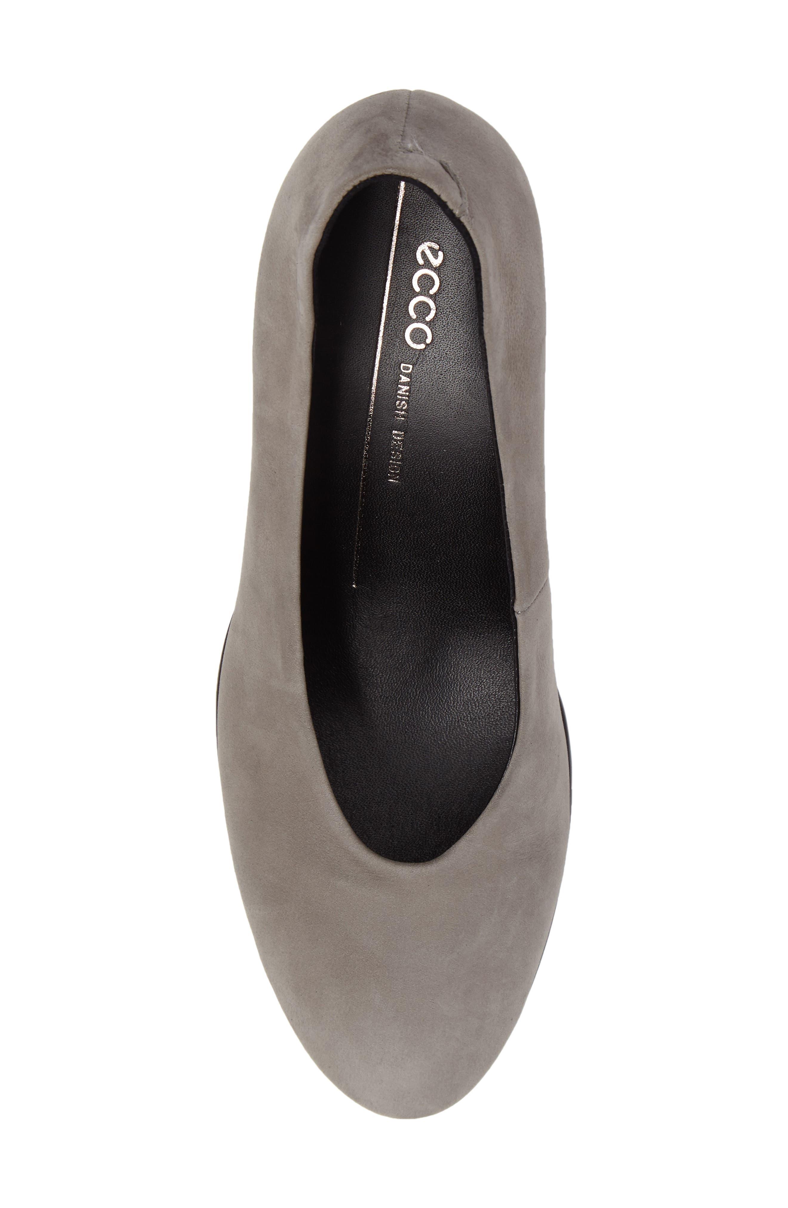 Shape 55 Plateau Pump,                             Alternate thumbnail 5, color,                             Warm Grey Leather