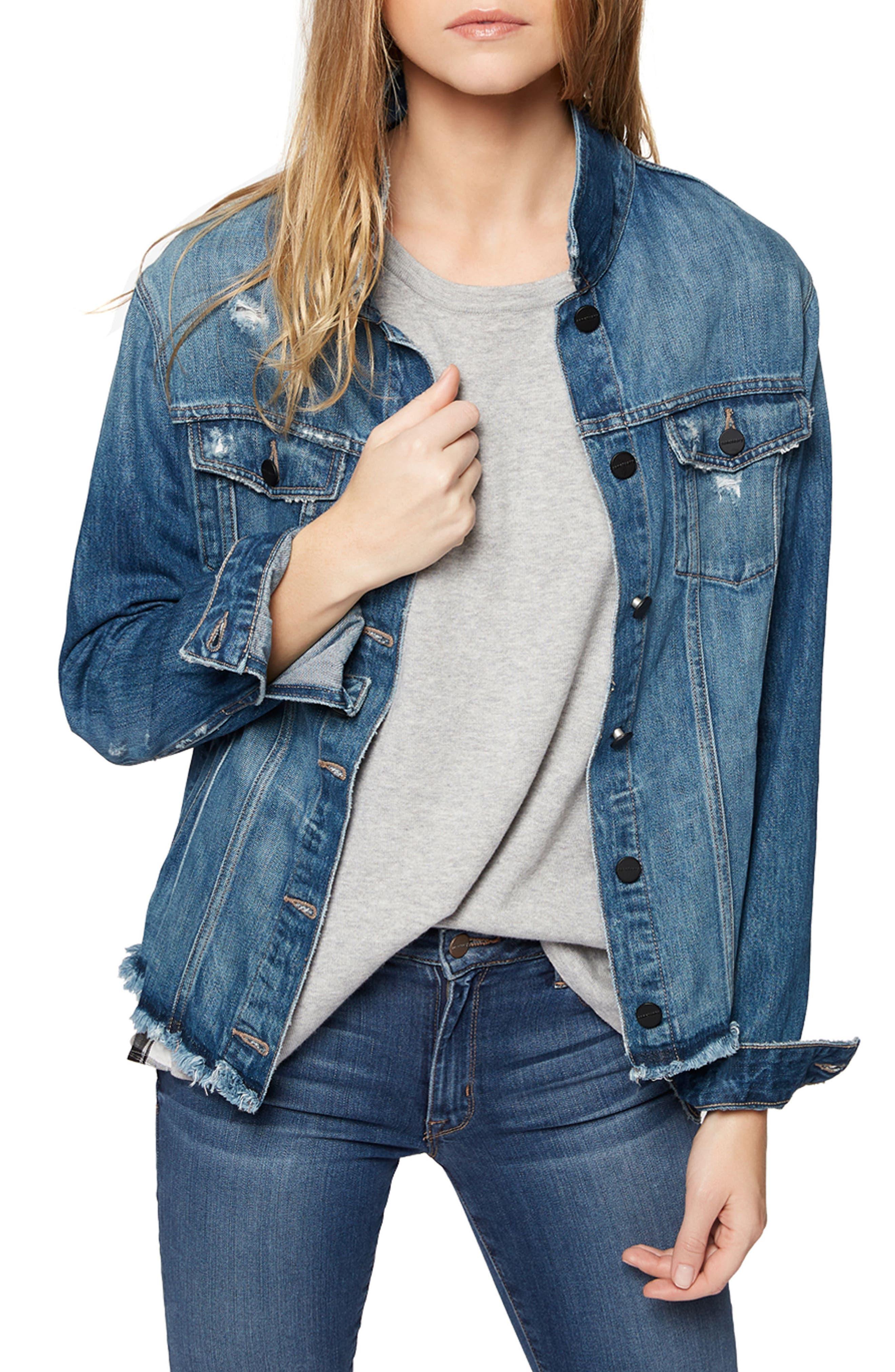 Guilty Pleasure Denim Jacket,                         Main,                         color, Lizette Wash