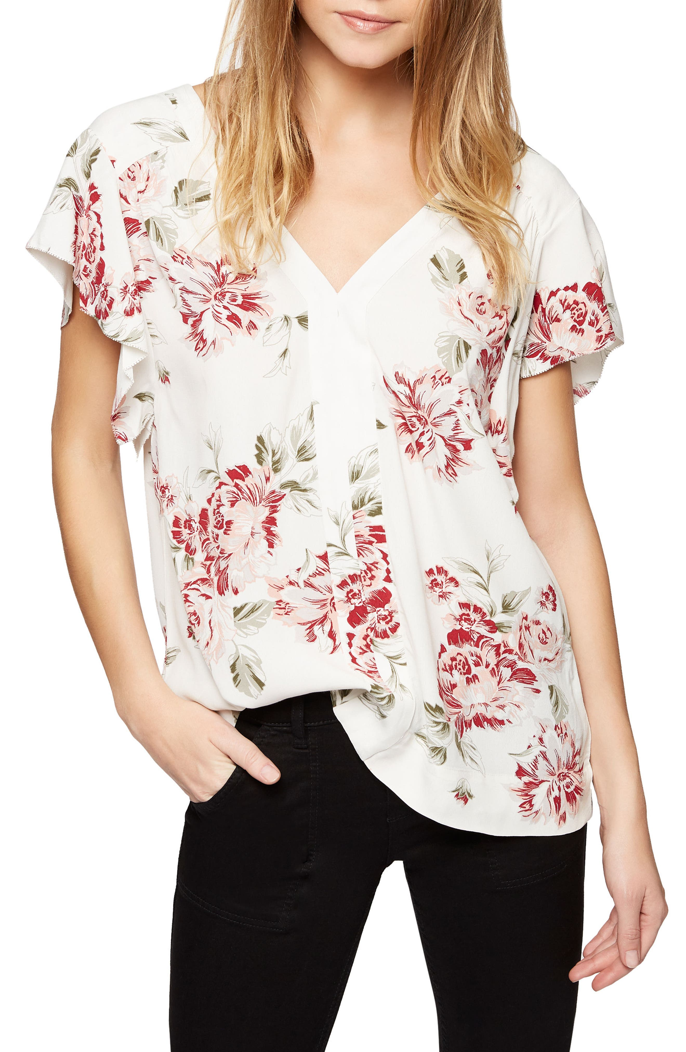 Sanctuary Countryside Shell Floral Print Top