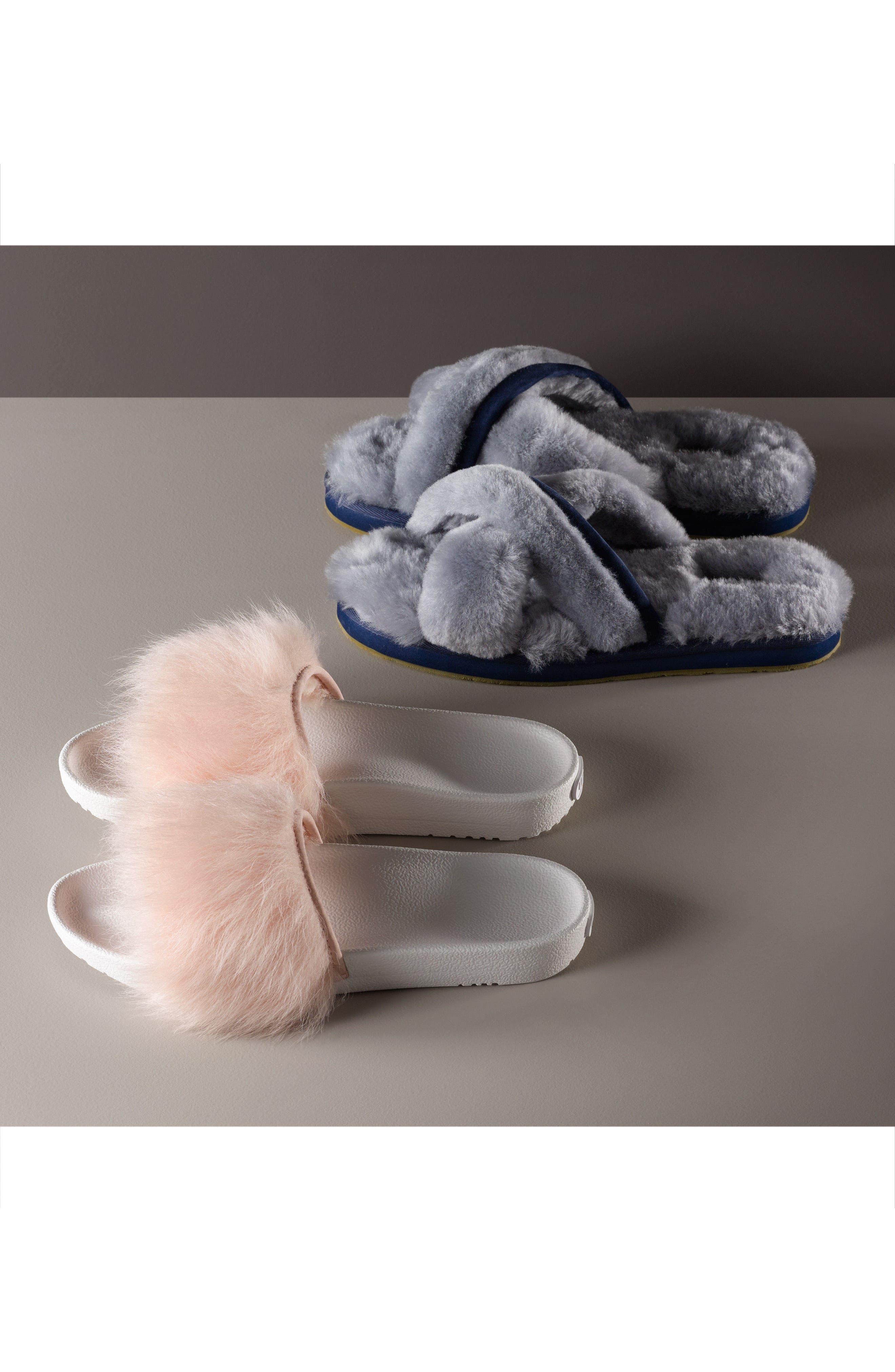 Alternate Image 7  - UGG® Abela Genuine Shearling Flip Flop (Women)