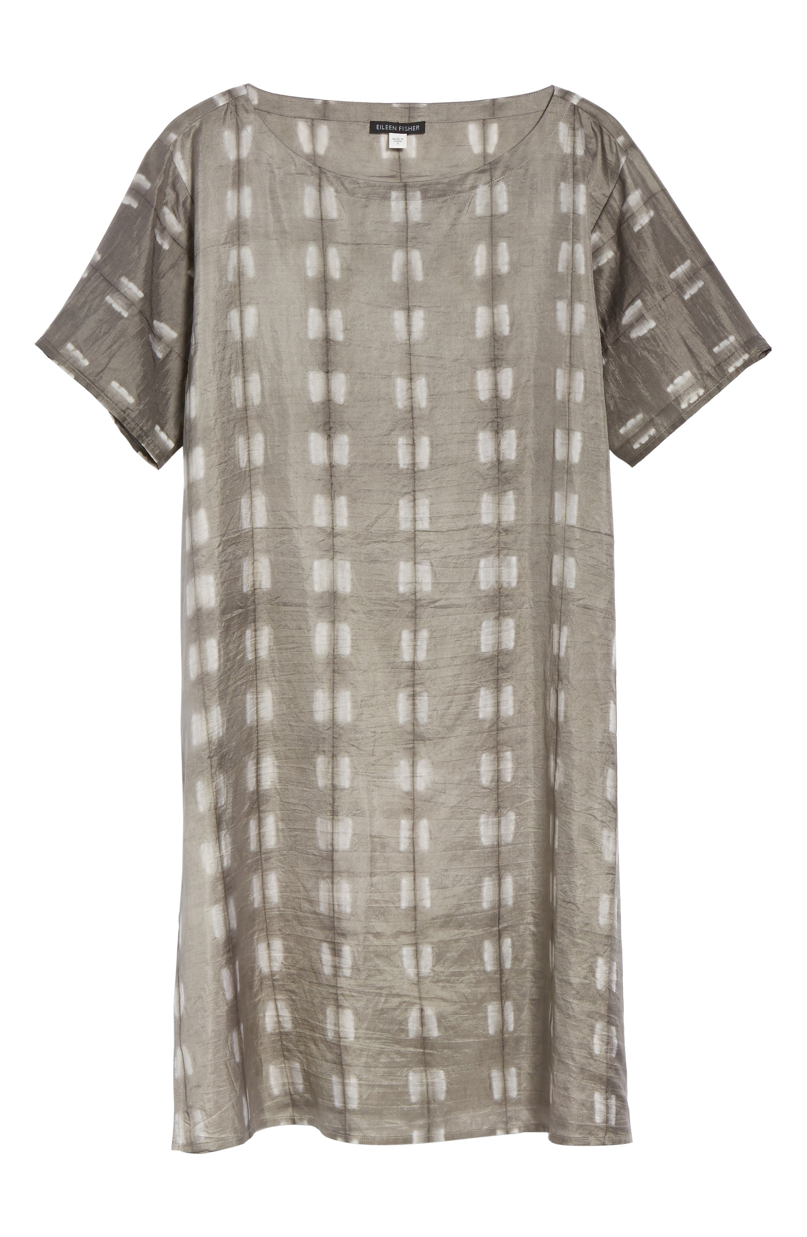 Alternate Image 6  - Eileen Fisher Bateau Neck Silk Tunic