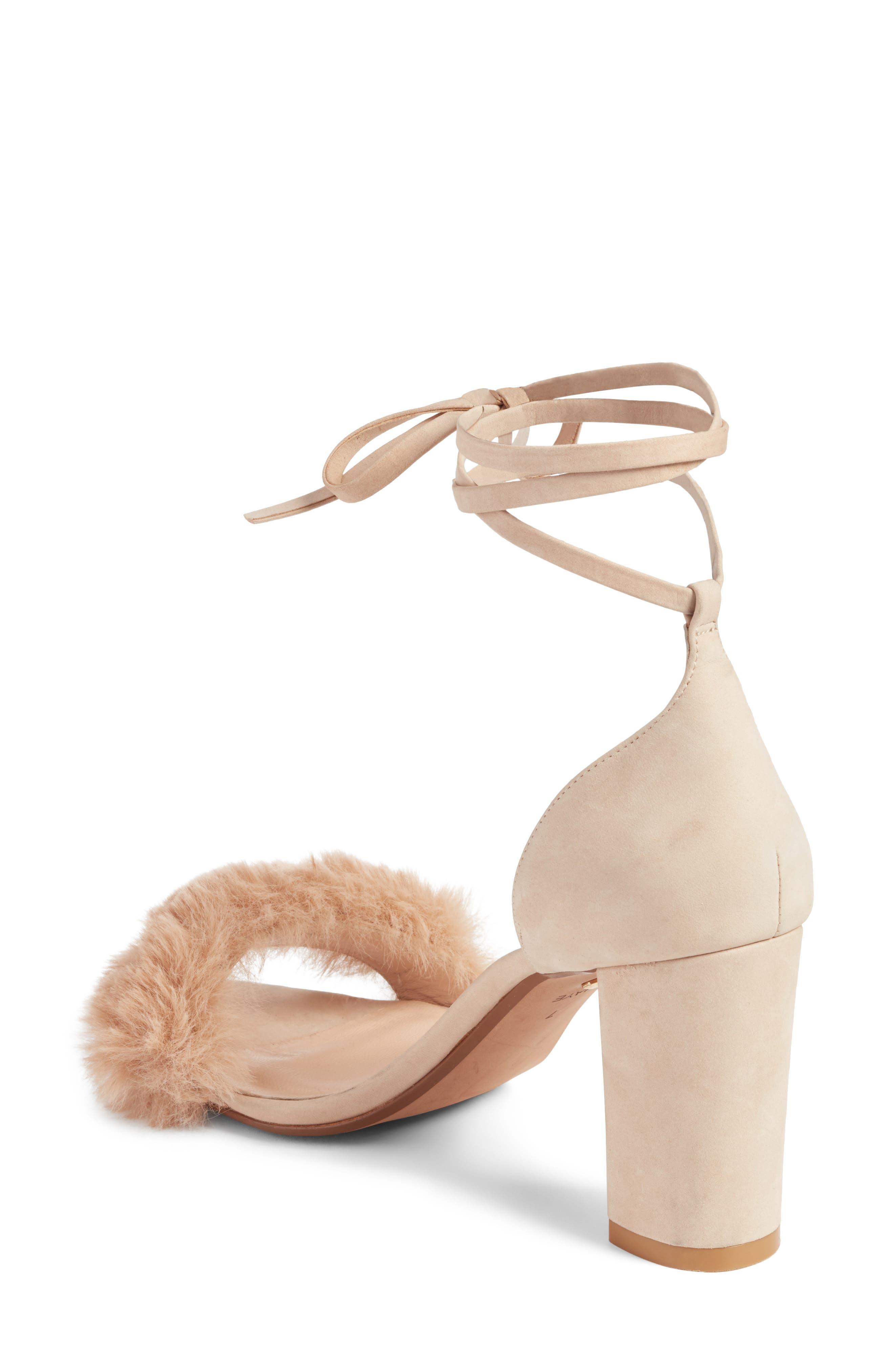 Lacey Faux Fur Sandal,                             Alternate thumbnail 2, color,                             Sable Fur