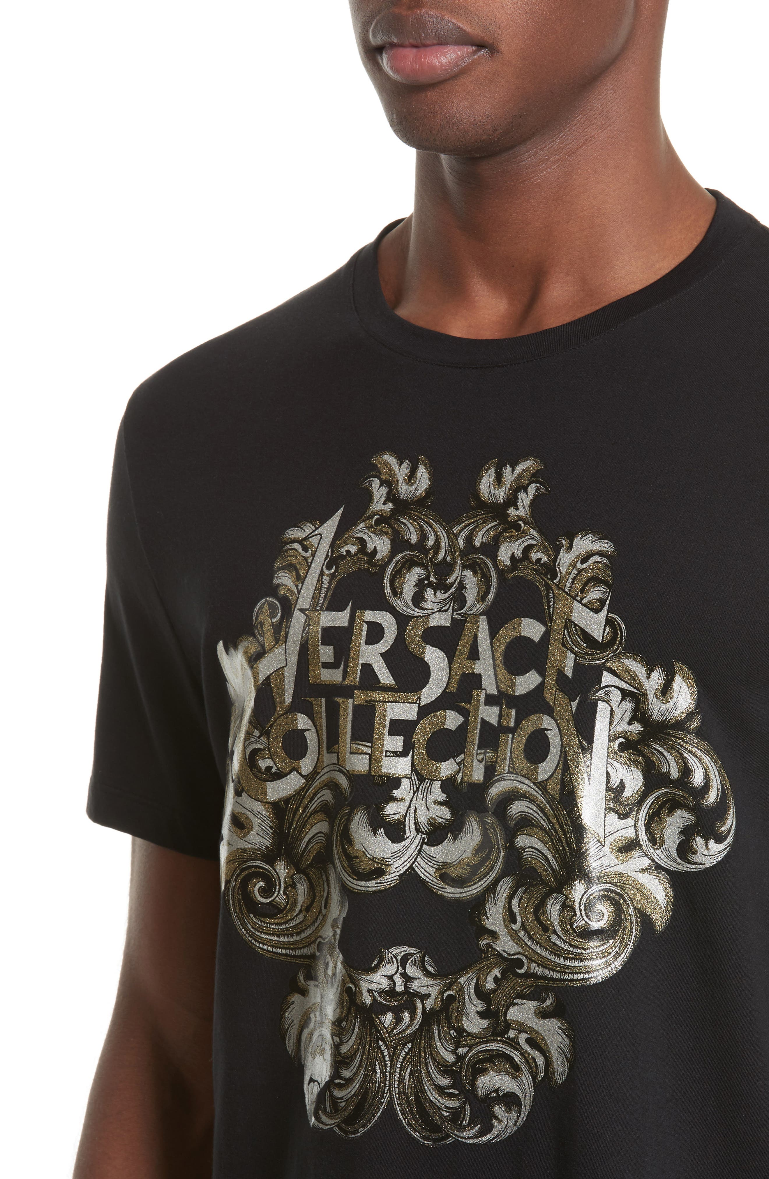Alternate Image 4  - Versace Collection Logo Graphic T-Shirt
