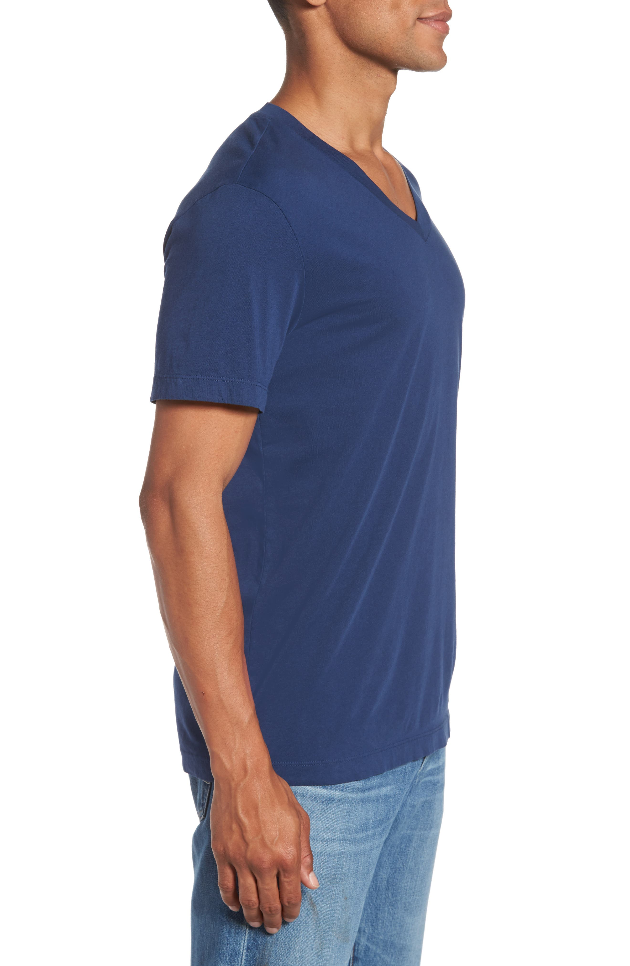 Alternate Image 3  - James Perse Short Sleeve V-Neck T-Shirt