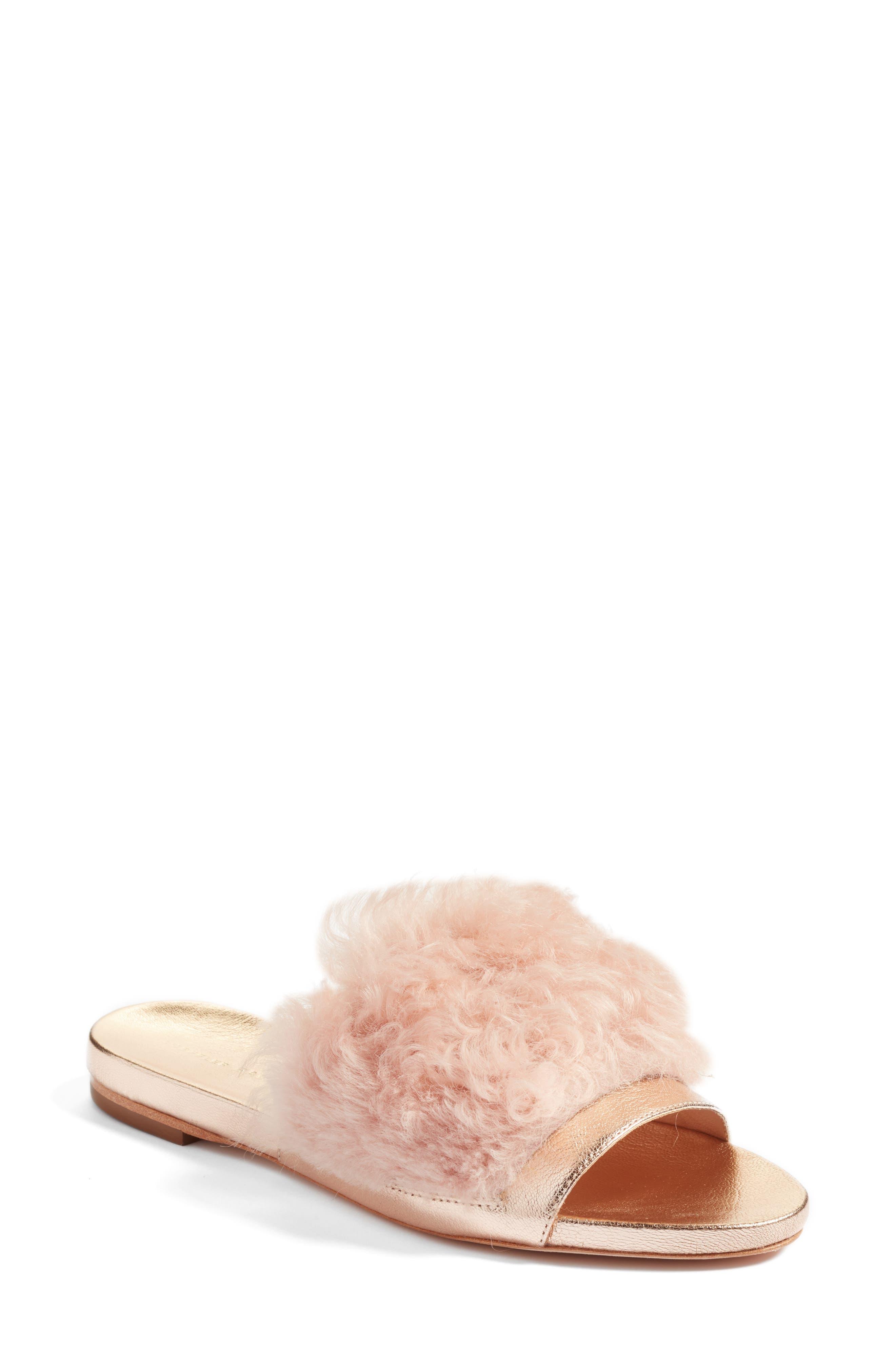 Loeffler Randall Domino Genuine Shearling Slide Sandal (Women)
