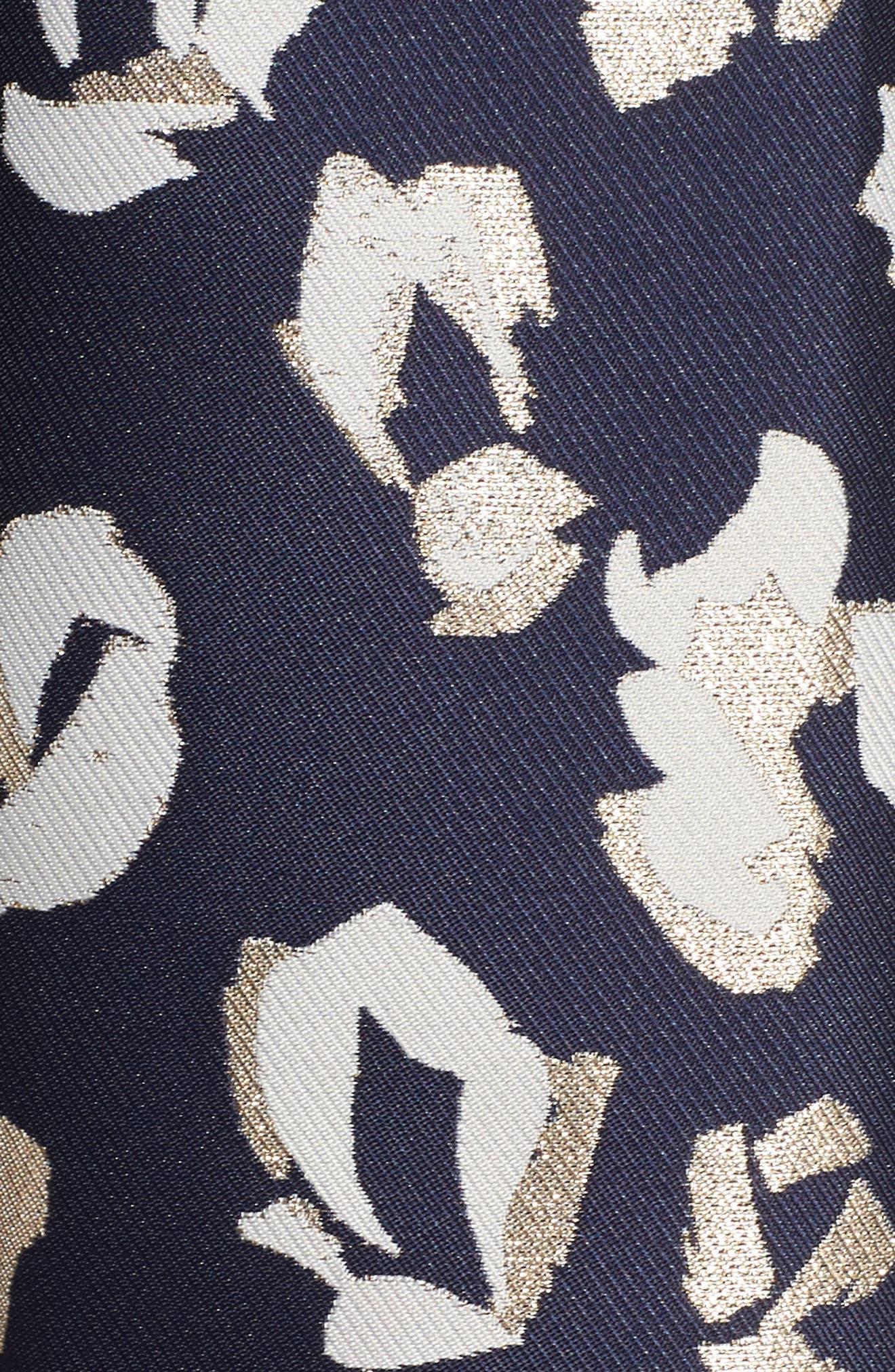 Alternate Image 6  - Eliza J Pleated Abstract Jacquard Skirt