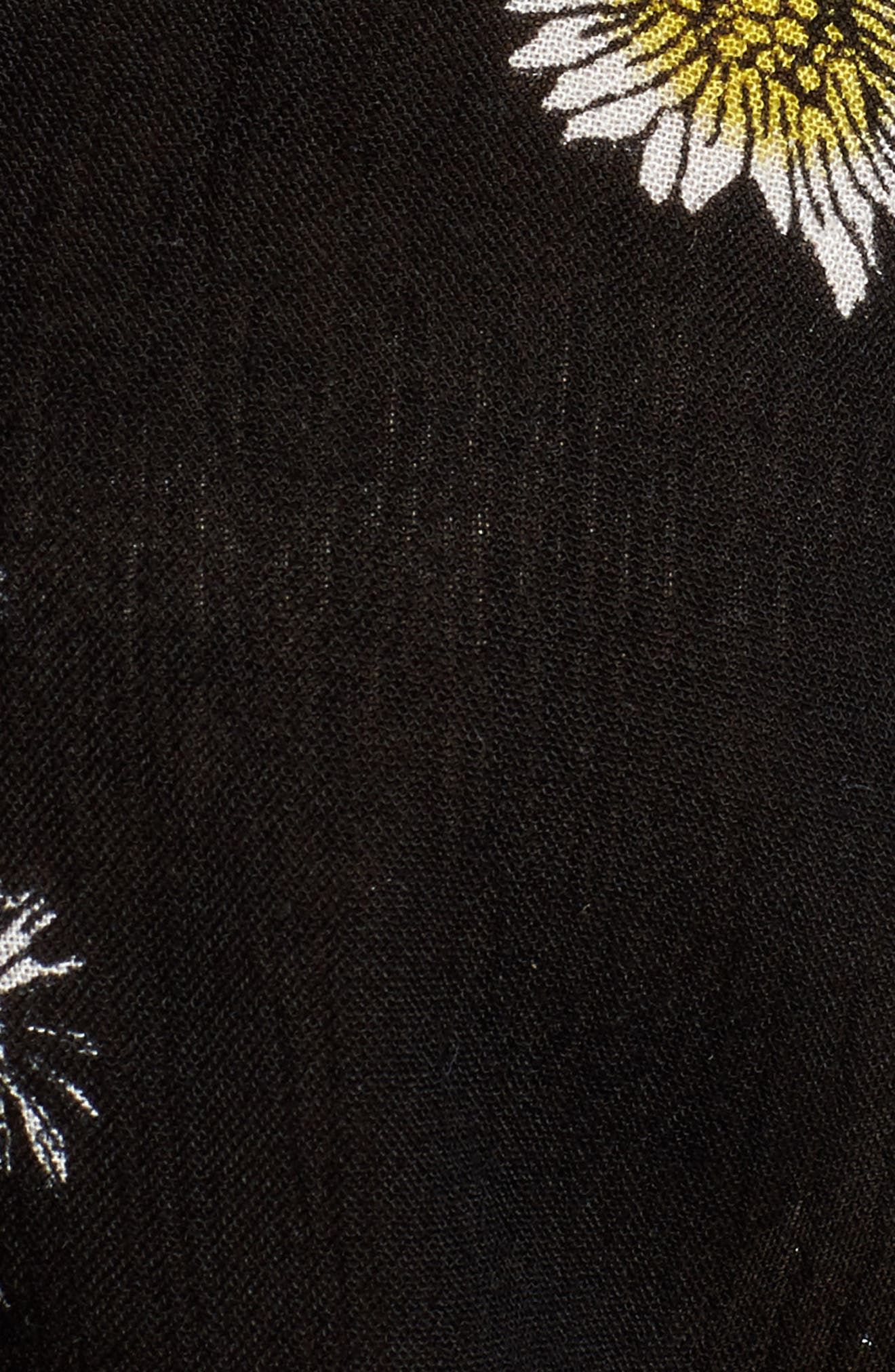 Hattie Crop Top,                             Alternate thumbnail 5, color,                             Black Multi