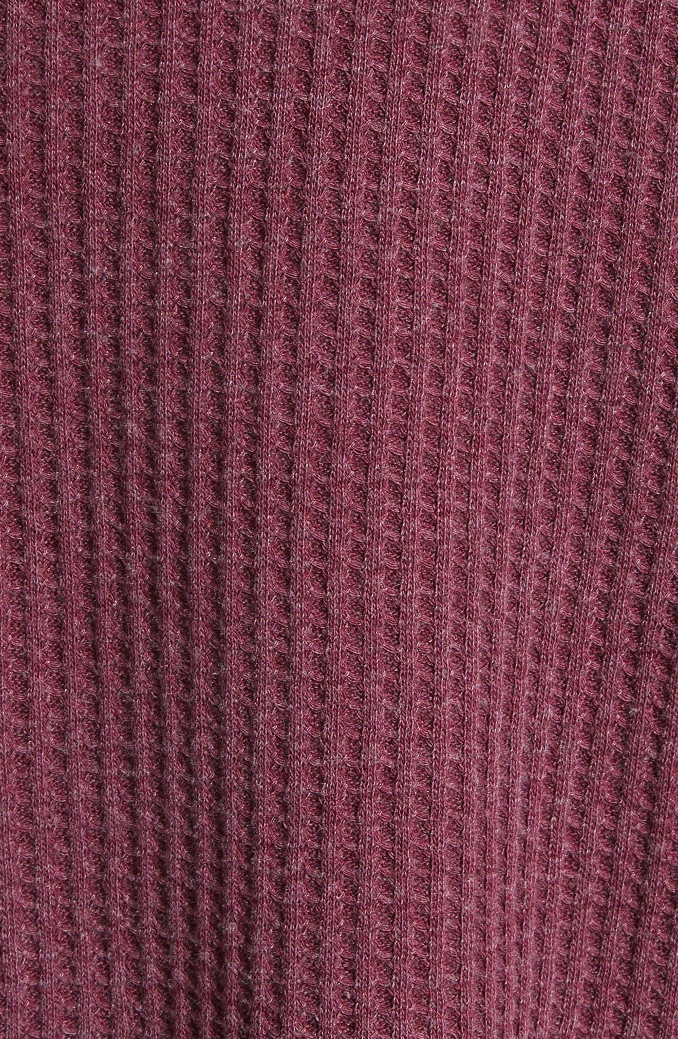 Dahlia Thermal Top,                             Alternate thumbnail 6, color,                             Wine