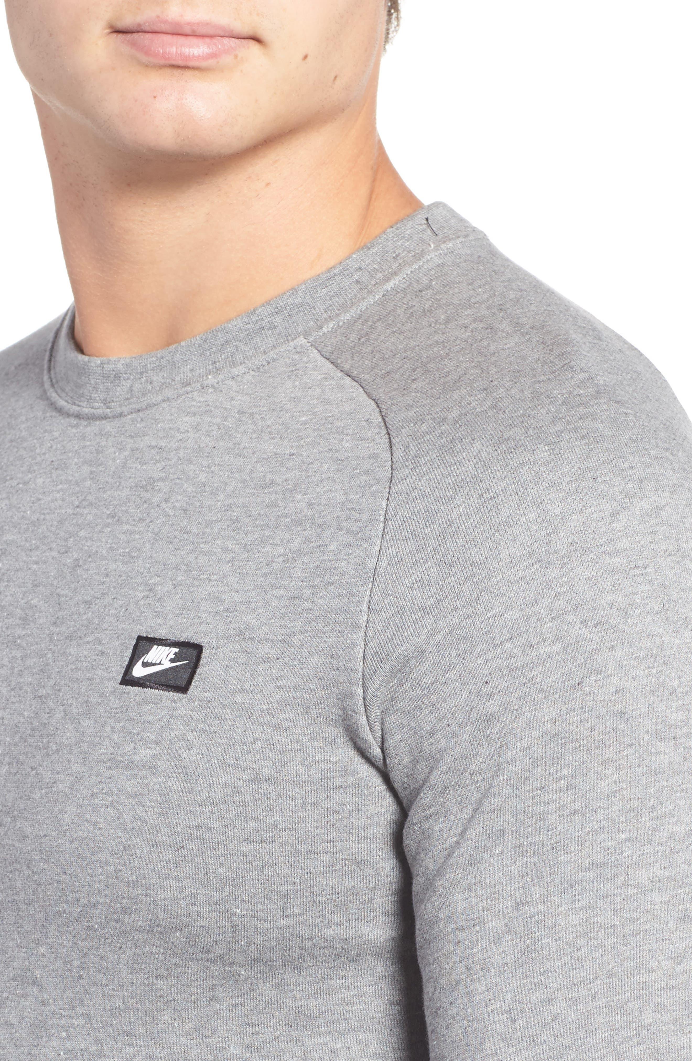 Sportswear Modern Crew T-Shirt,                             Alternate thumbnail 4, color,                             Grey