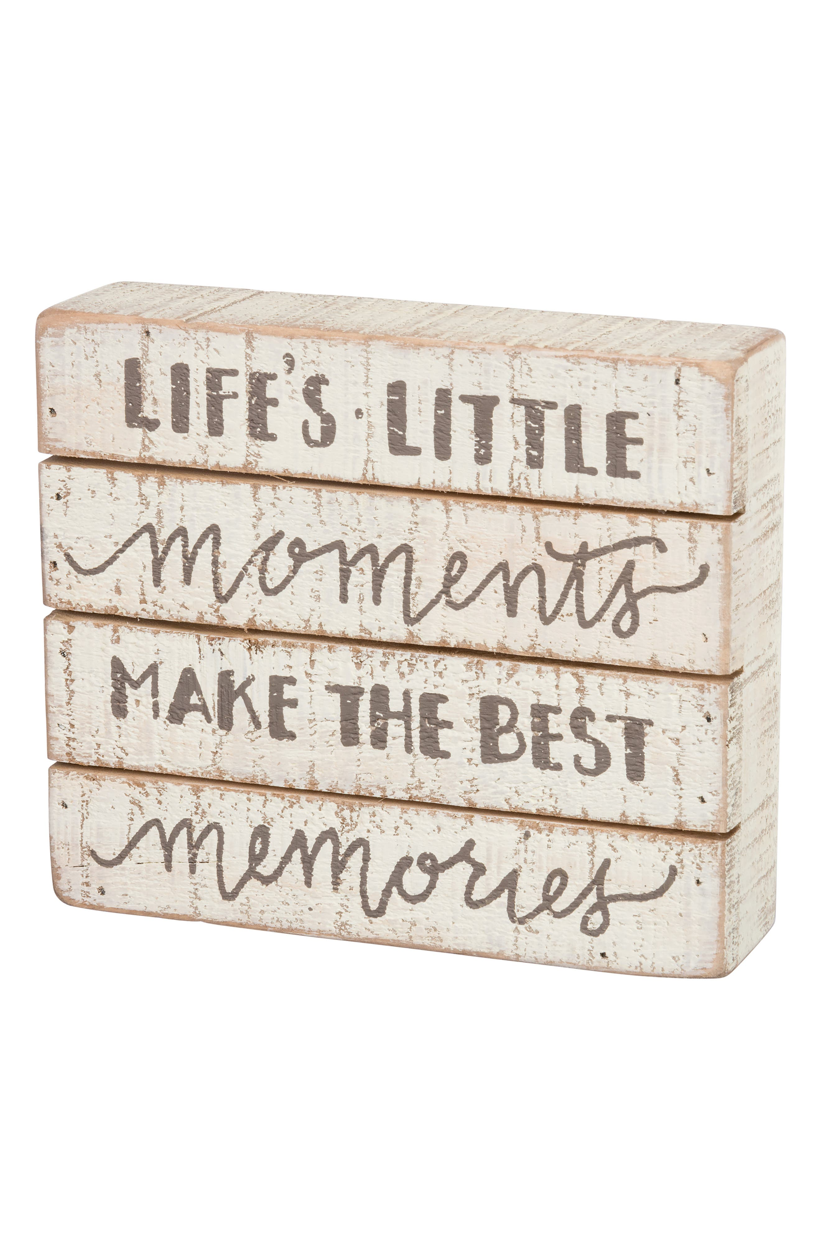 Alternate Image 1 Selected - Primitives by Kathy Best Memories Wooden Box Sign