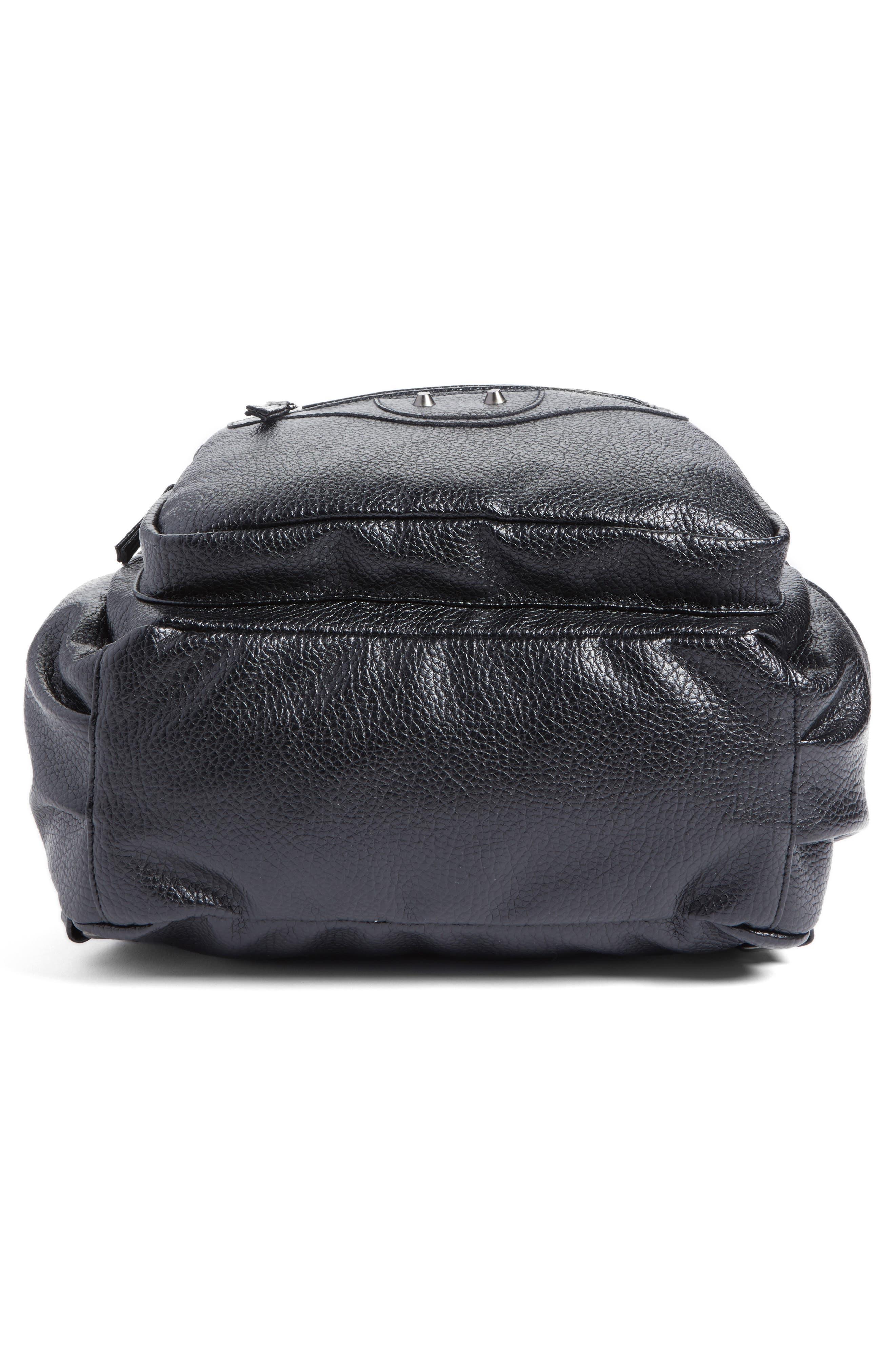 Embroidered Backpack,                             Alternate thumbnail 5, color,                             Black