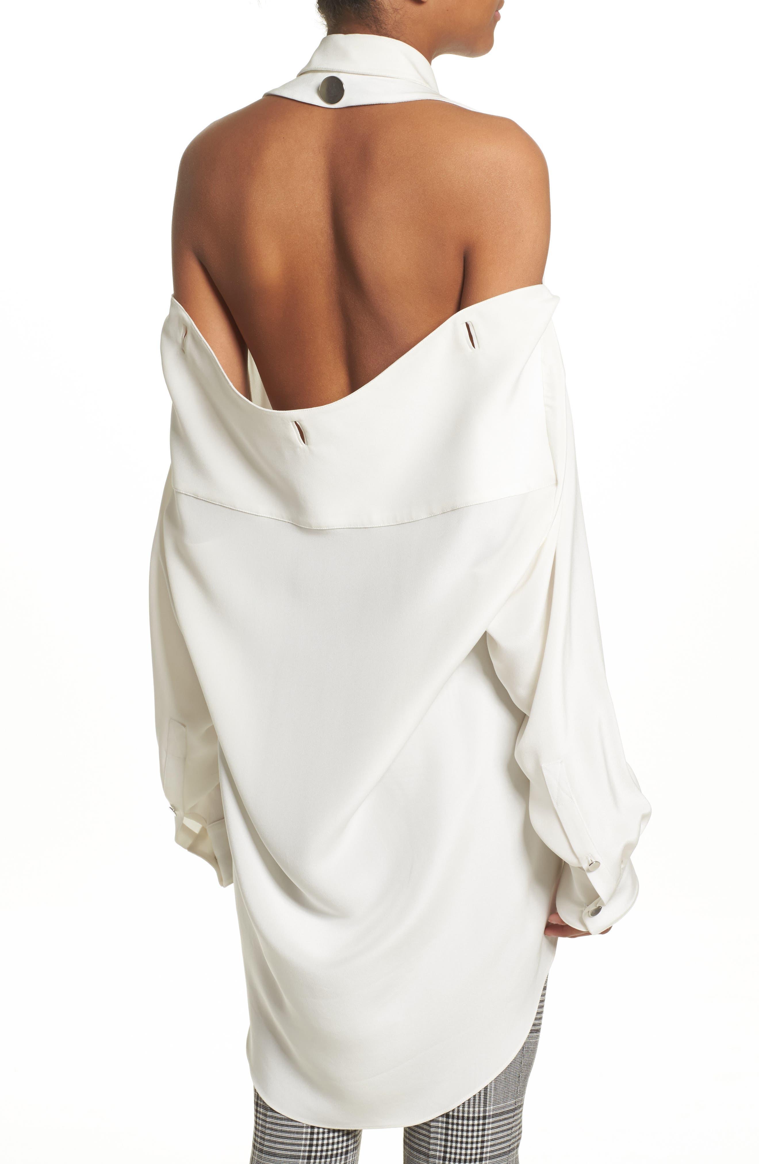 Alternate Image 3  - Alexander Wang Open Back Silk Blouse