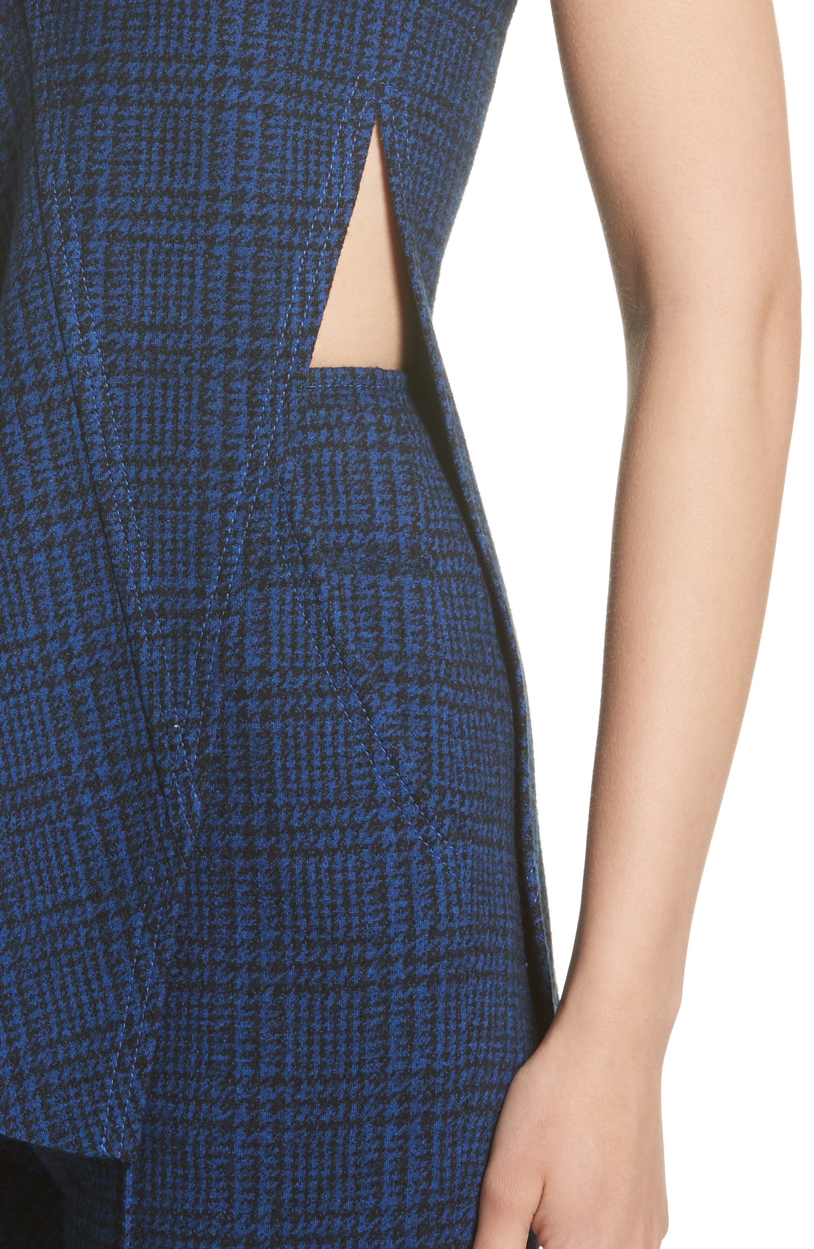 Alternate Image 4  - Jason Wu Check Jersey Asymmetrical Peplum Top