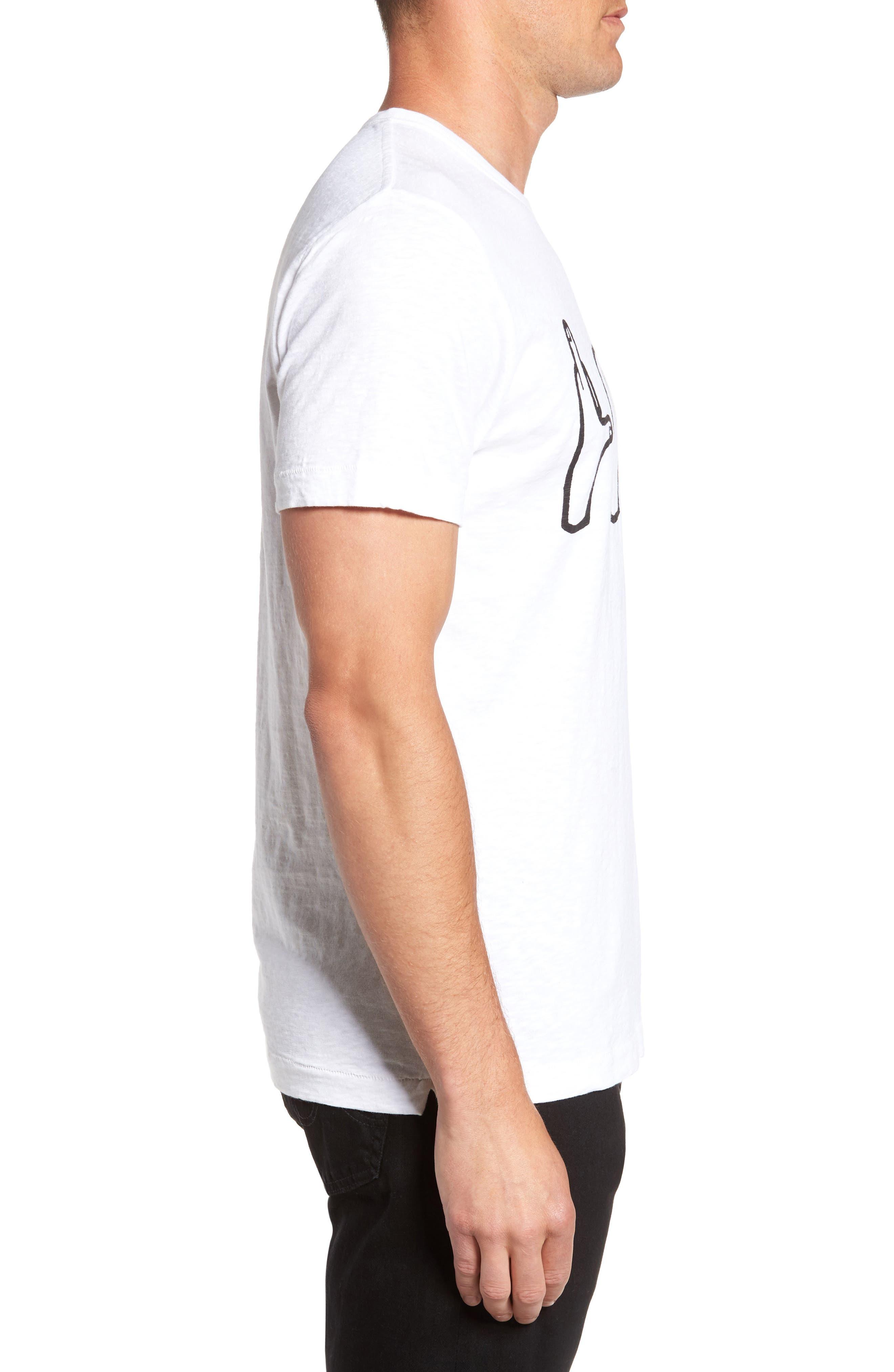 Love Hands Graphic T-Shirt,                             Alternate thumbnail 3, color,                             White/ Black