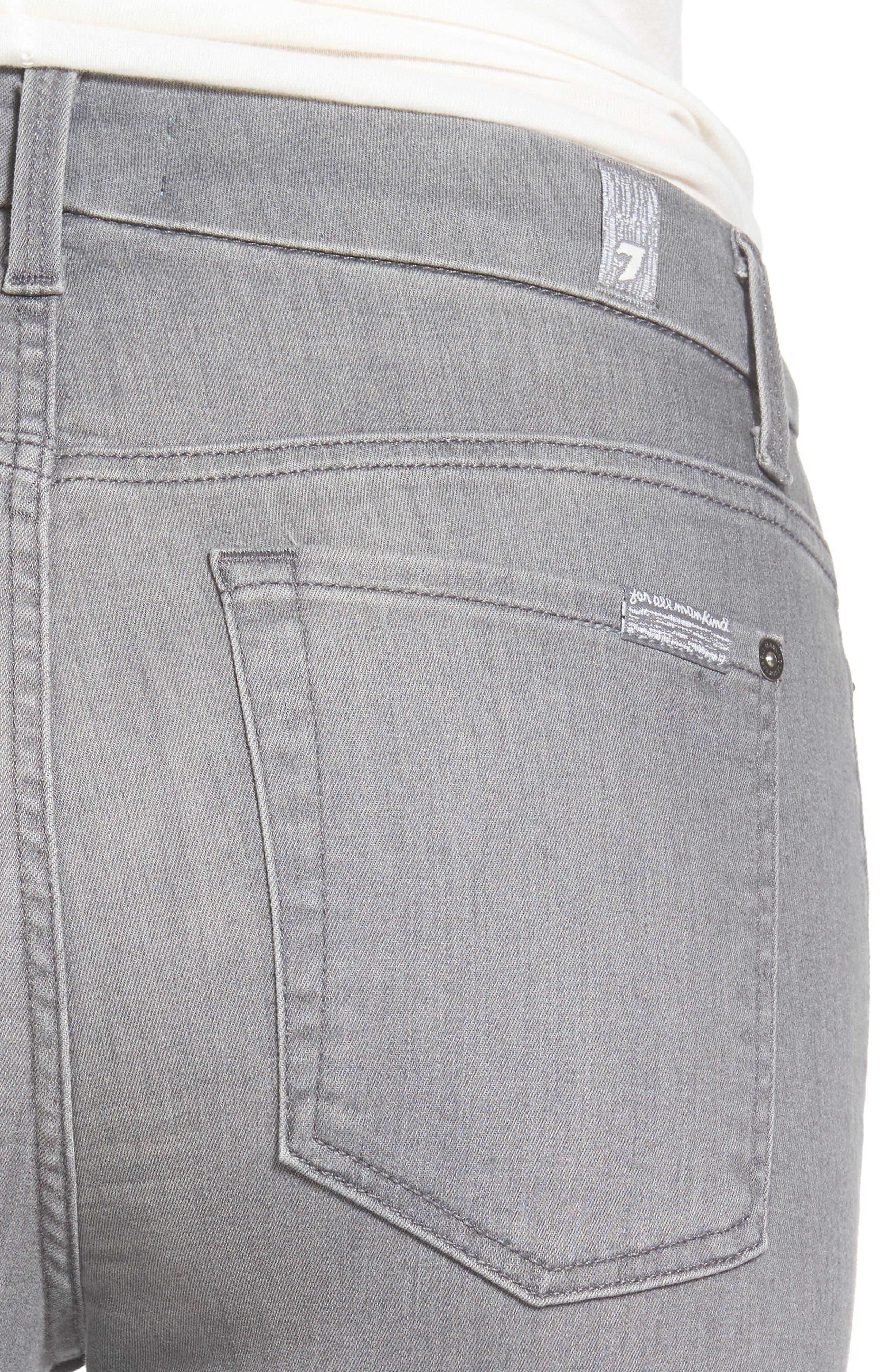 b(air) High Waist Skinny Jeans,                             Alternate thumbnail 4, color,                             B(Air) Chrysler Grey- Bac2