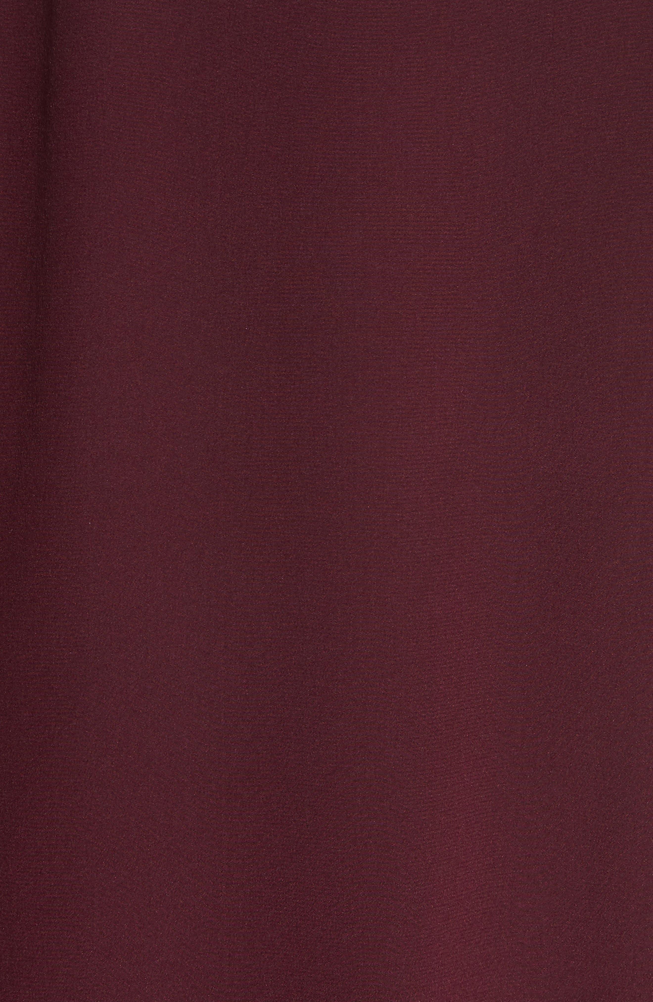 Bishop Sleeve Silk Crêpe de Chine Blouse,                             Alternate thumbnail 3, color,                             Bordeaux