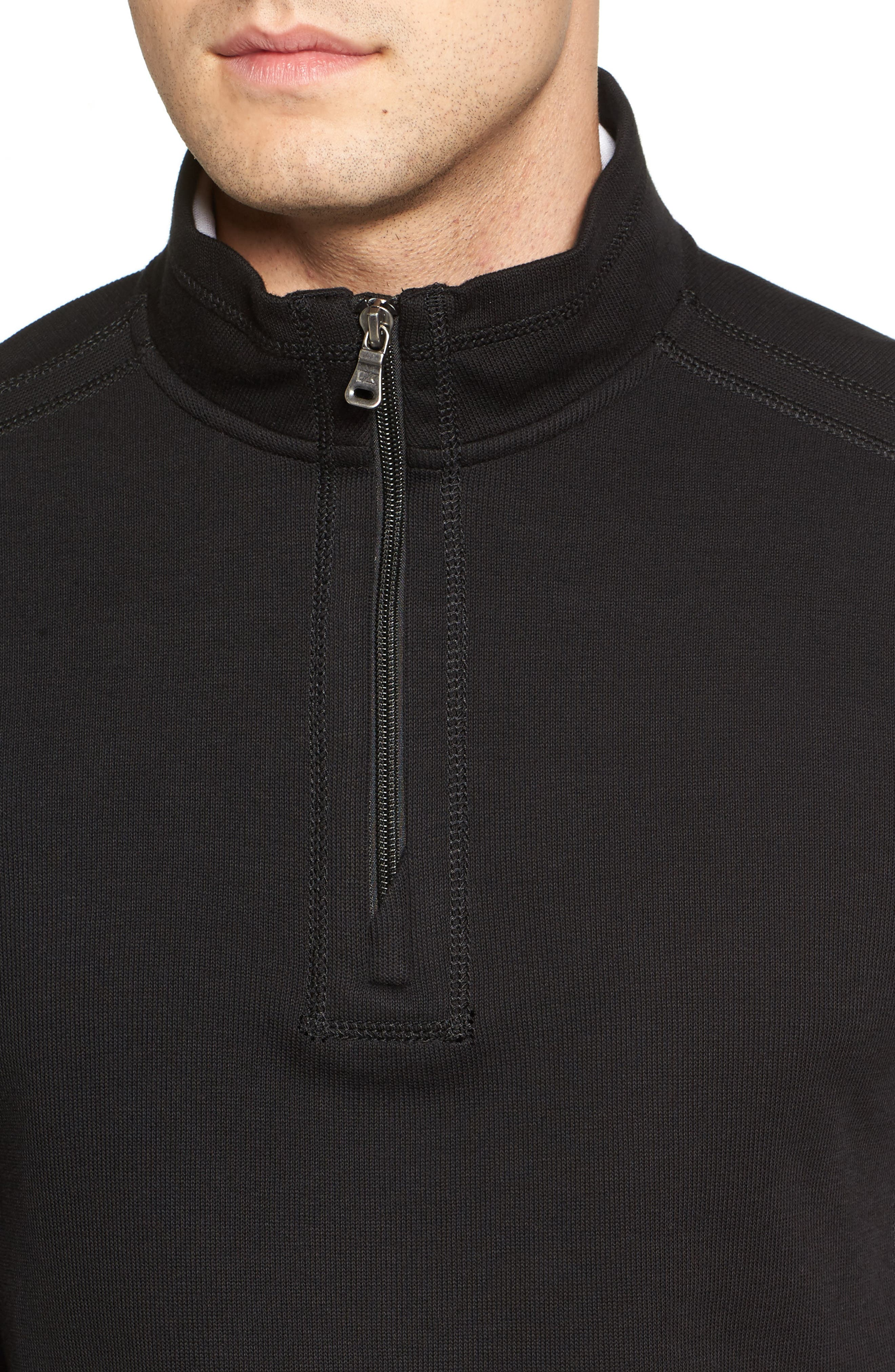Bayview Quarter Zip Pullover,                             Alternate thumbnail 4, color,                             Black