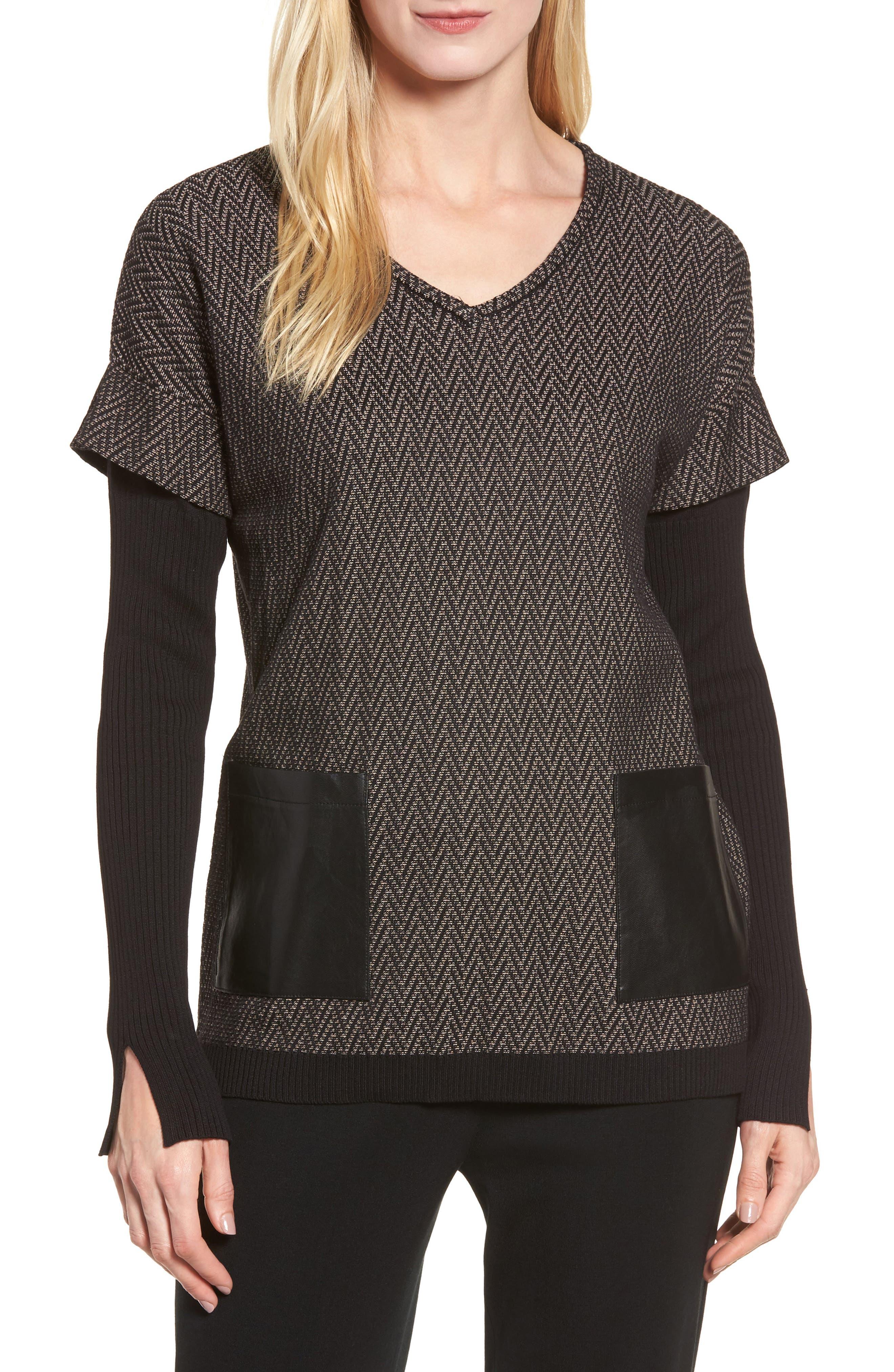 Main Image - Ming Wang Layered Look Sweater