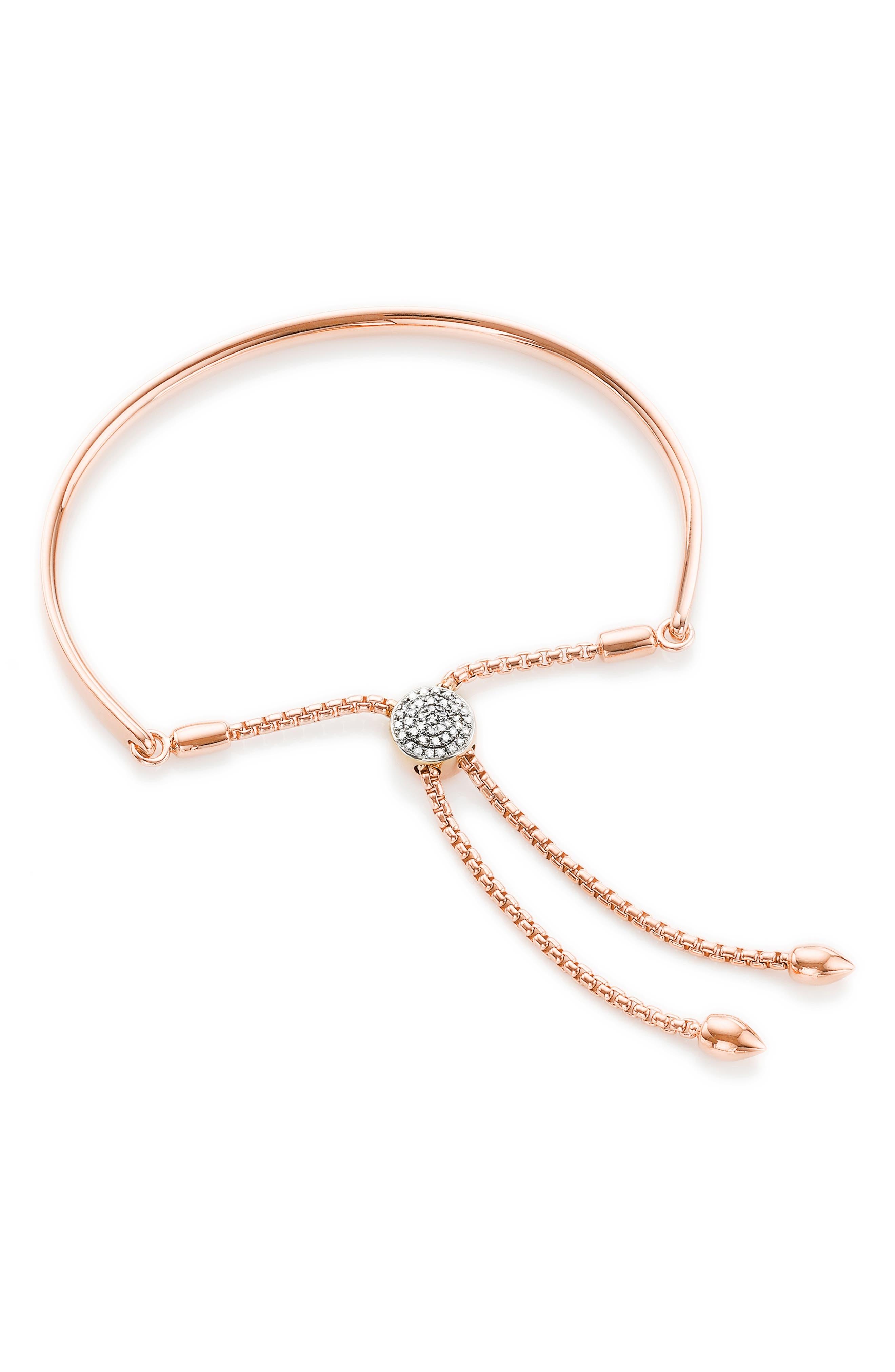 Monica Vinader Fiji Diamond Toggle Bracelet