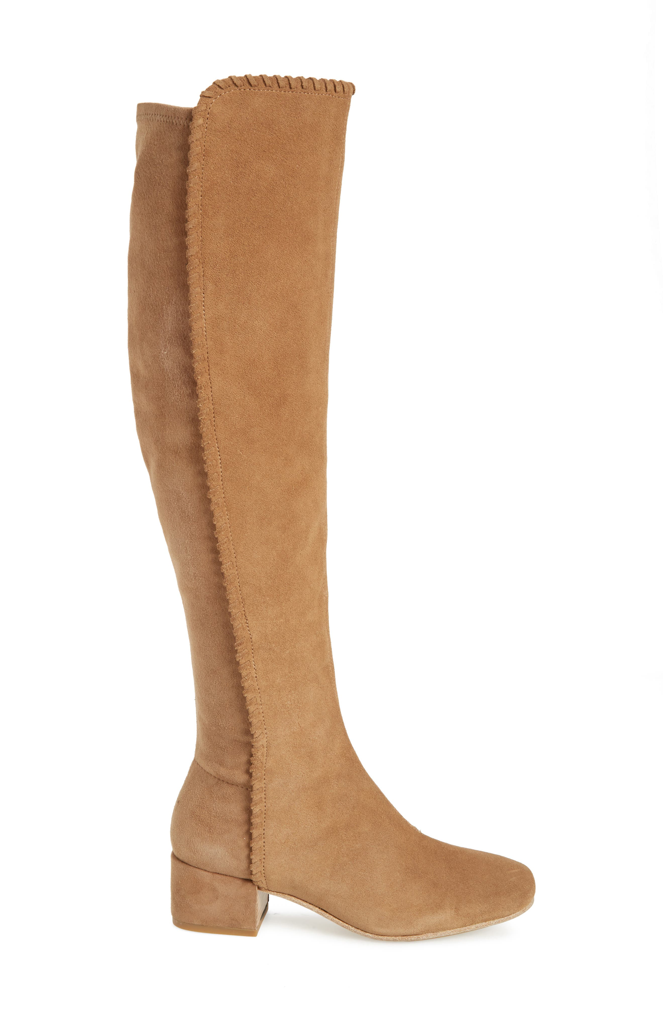 Emery Over the Knee Boot,                             Alternate thumbnail 3, color,                             Camel Suede