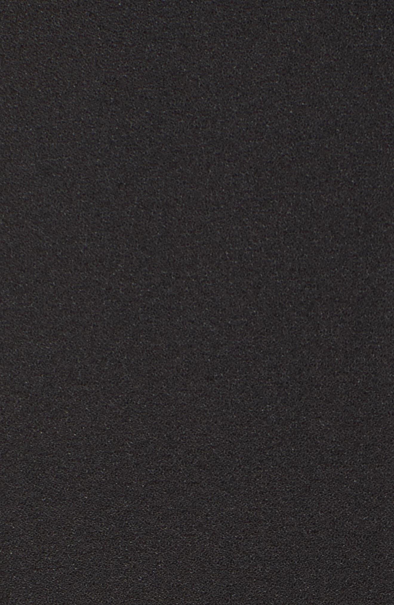 Fusion Halter Style Fit & Flare Dress,                             Alternate thumbnail 6, color,                             Black