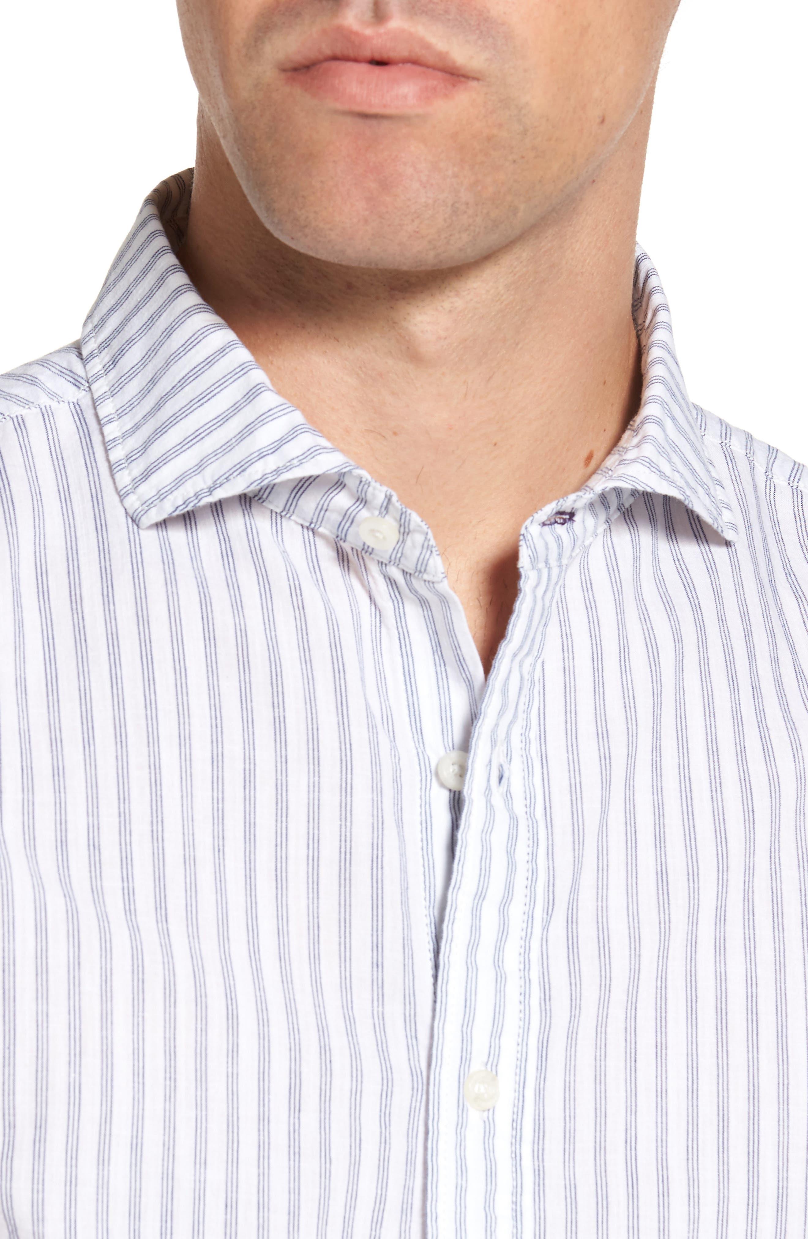 Alternate Image 4  - Nifty Genius Earnest Stripe Sport Shirt