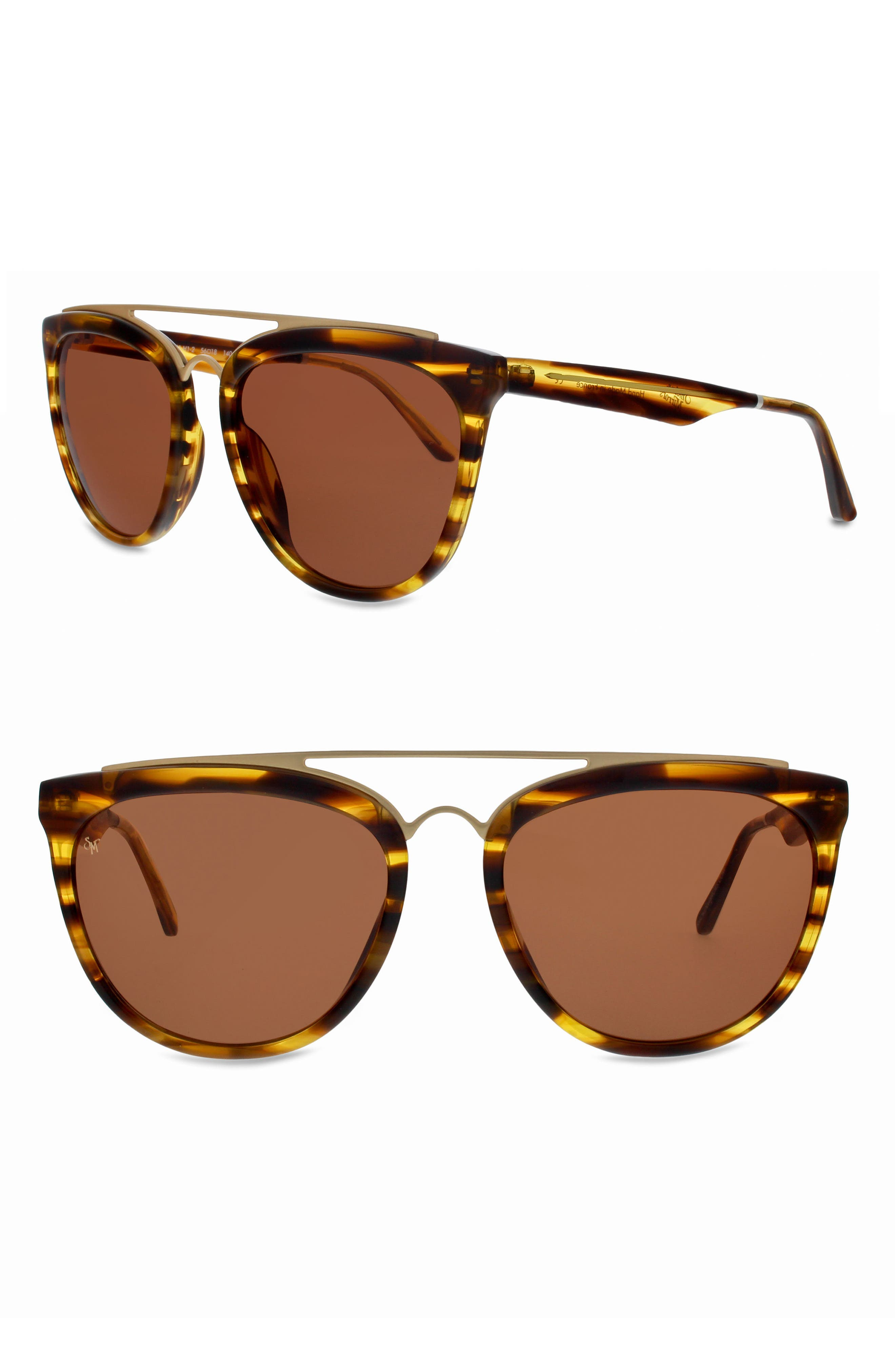 Volunteers 56mm Sunglasses,                         Main,                         color, Brown Havana/ Matte Gold