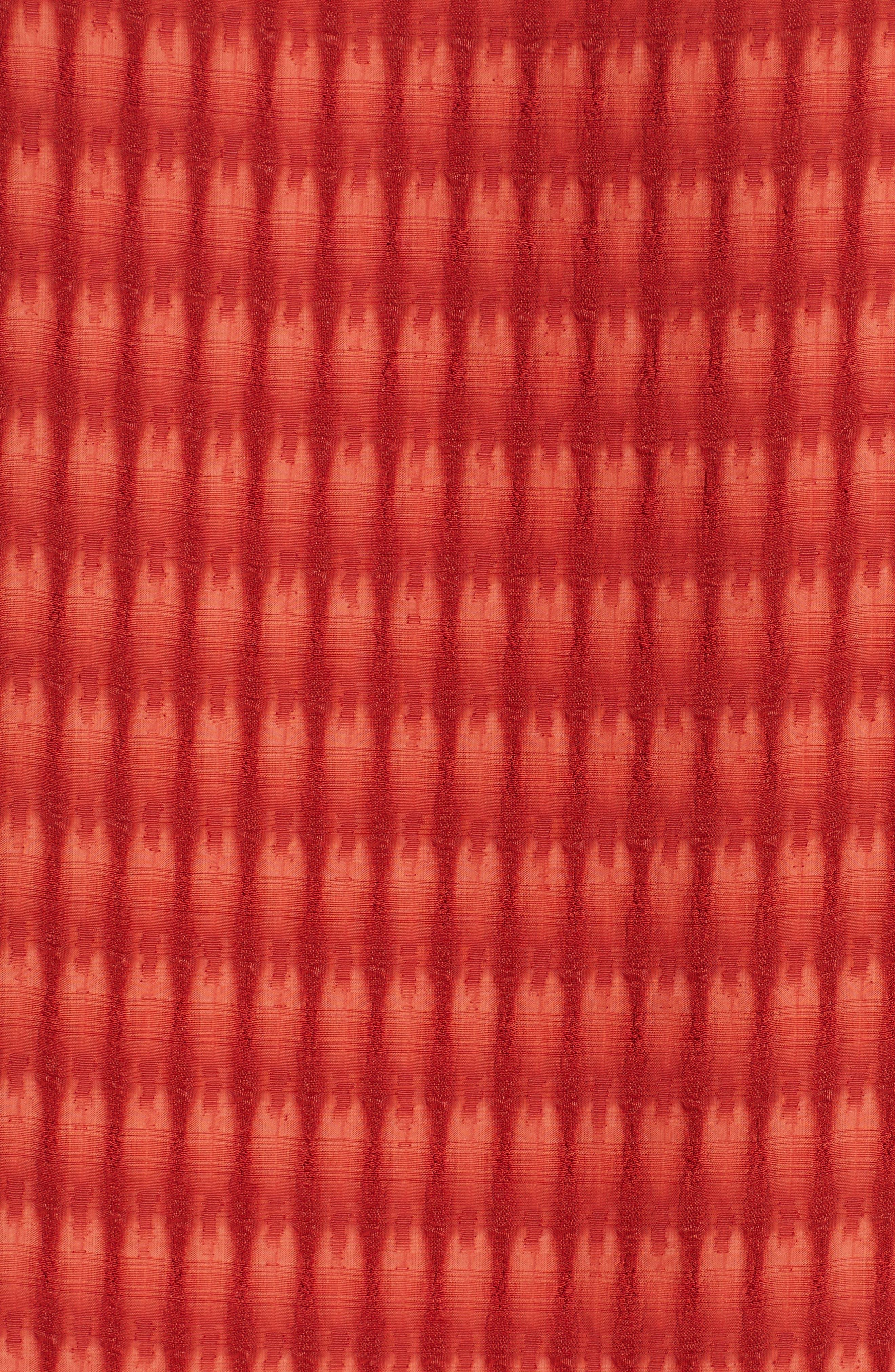 Vero Batik Plaid Top,                             Alternate thumbnail 3, color,                             Saffron Red
