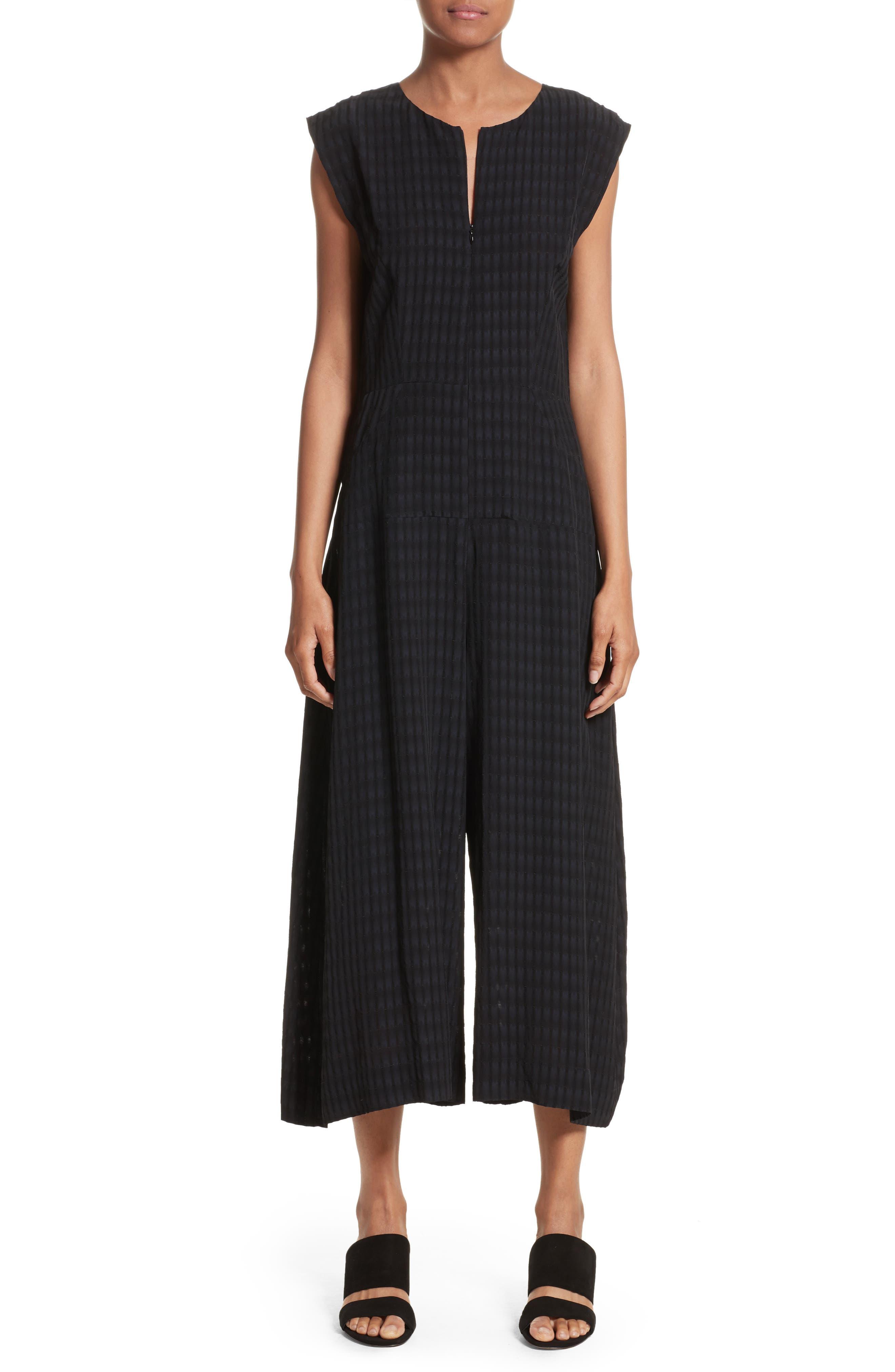 Zowie Batik Plaid Jumpsuit,                         Main,                         color, Black