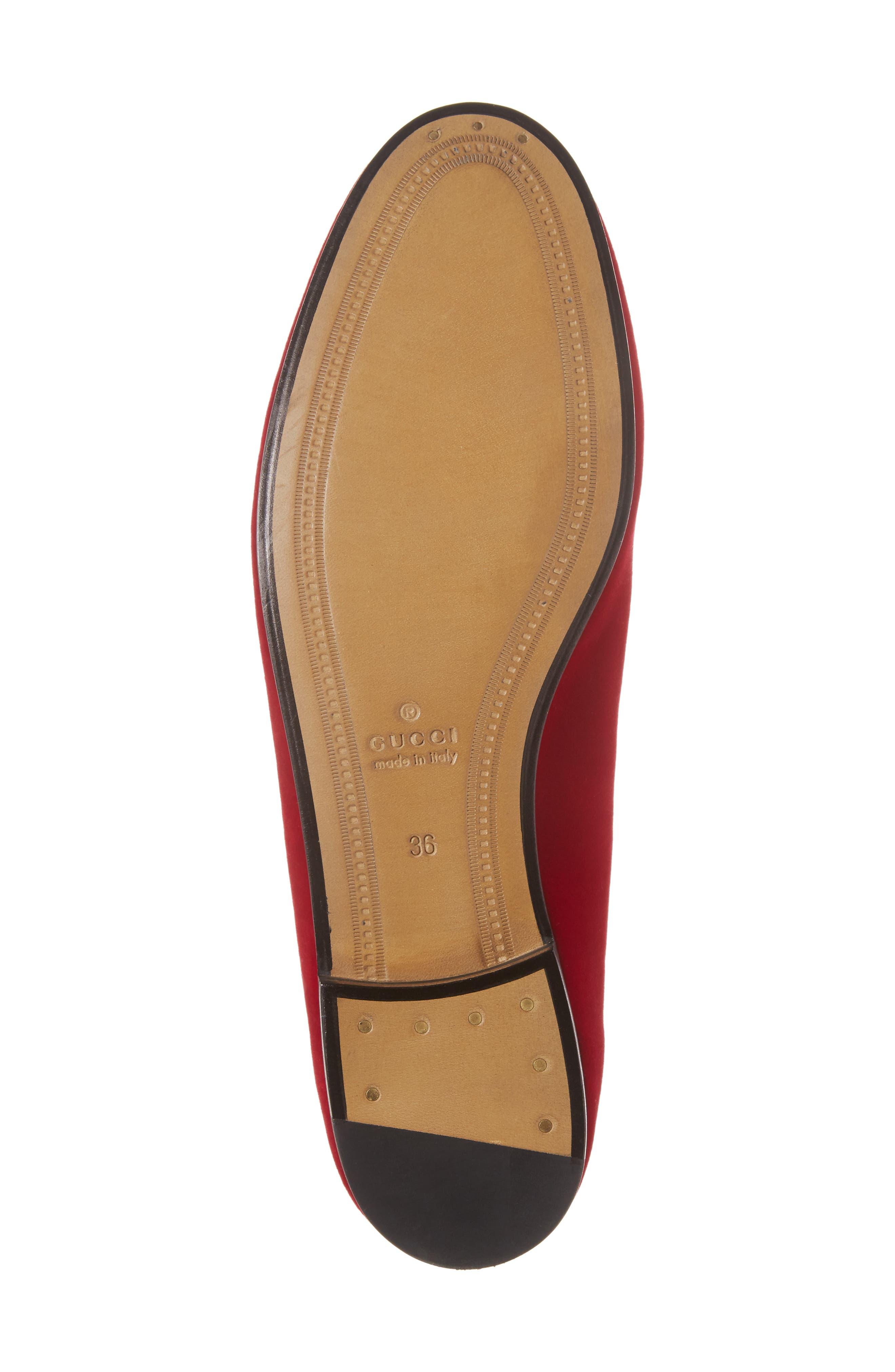 Alternate Image 6  - Gucci Brixton Velvet Loafer (Women)
