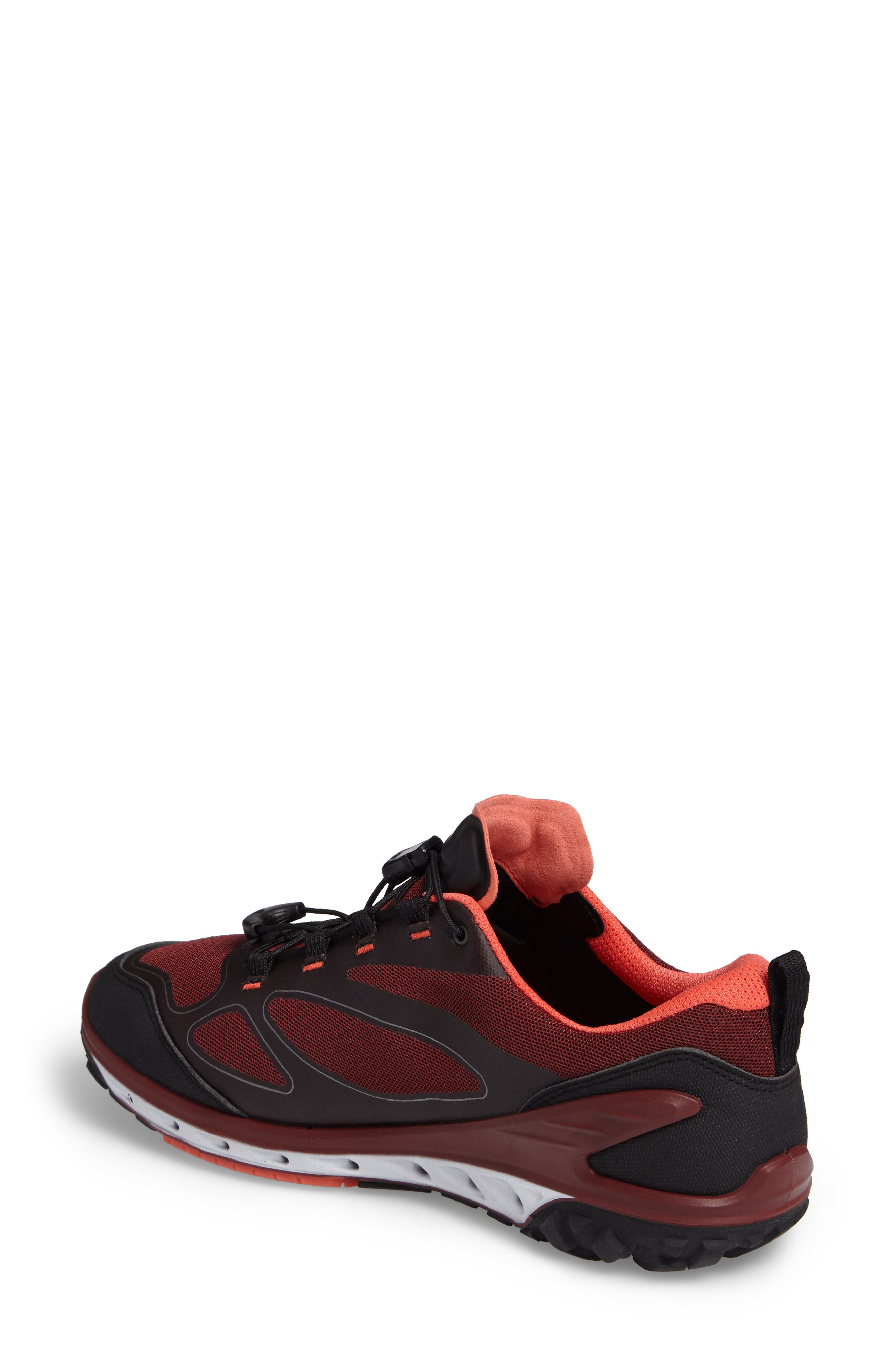 BIOM Venture GTX Sneaker,                             Alternate thumbnail 2, color,                             Black/ Coral Blush Fabric