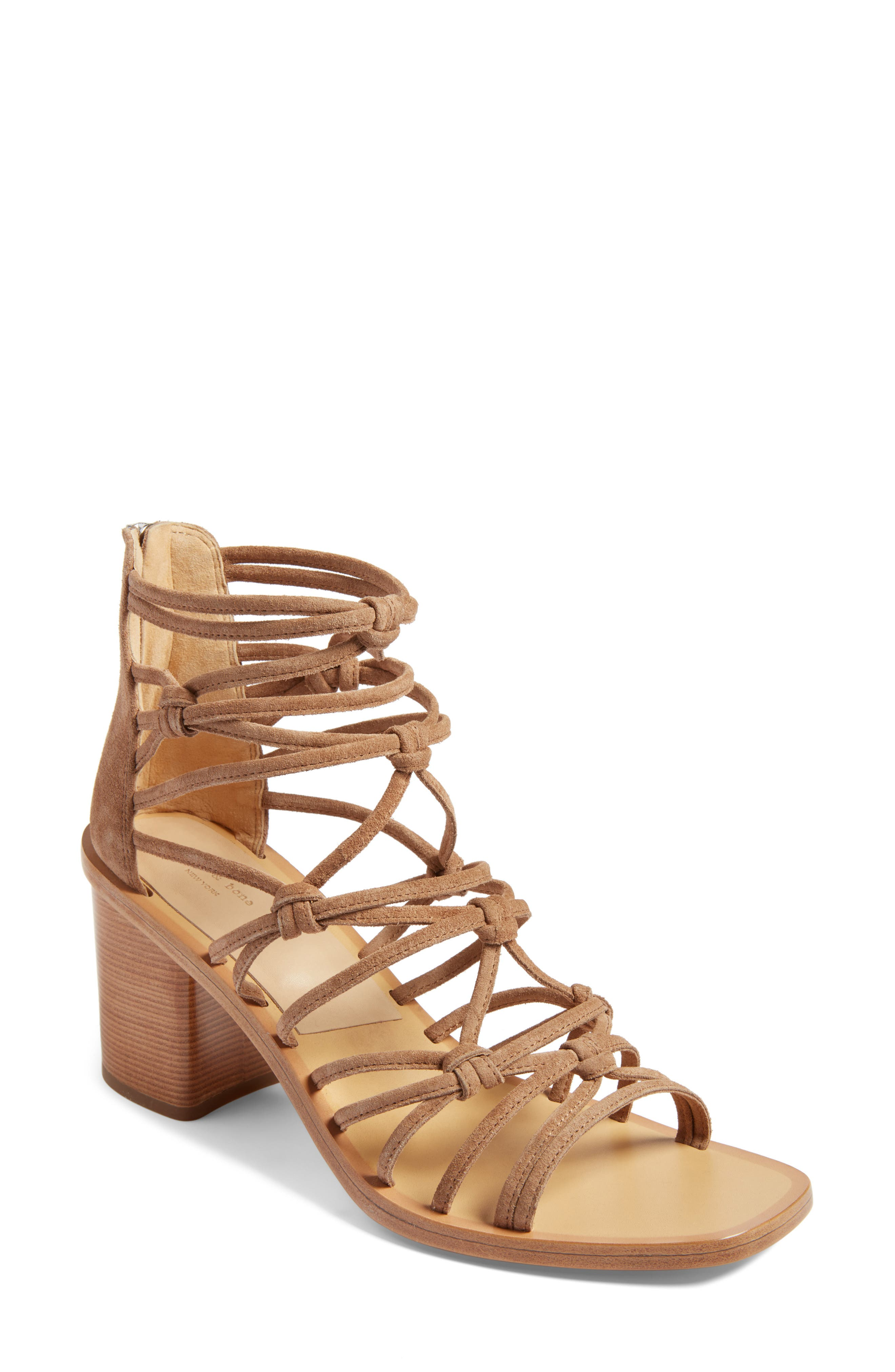 rag & bone Camille Knotted Strappy Sandal (Women)