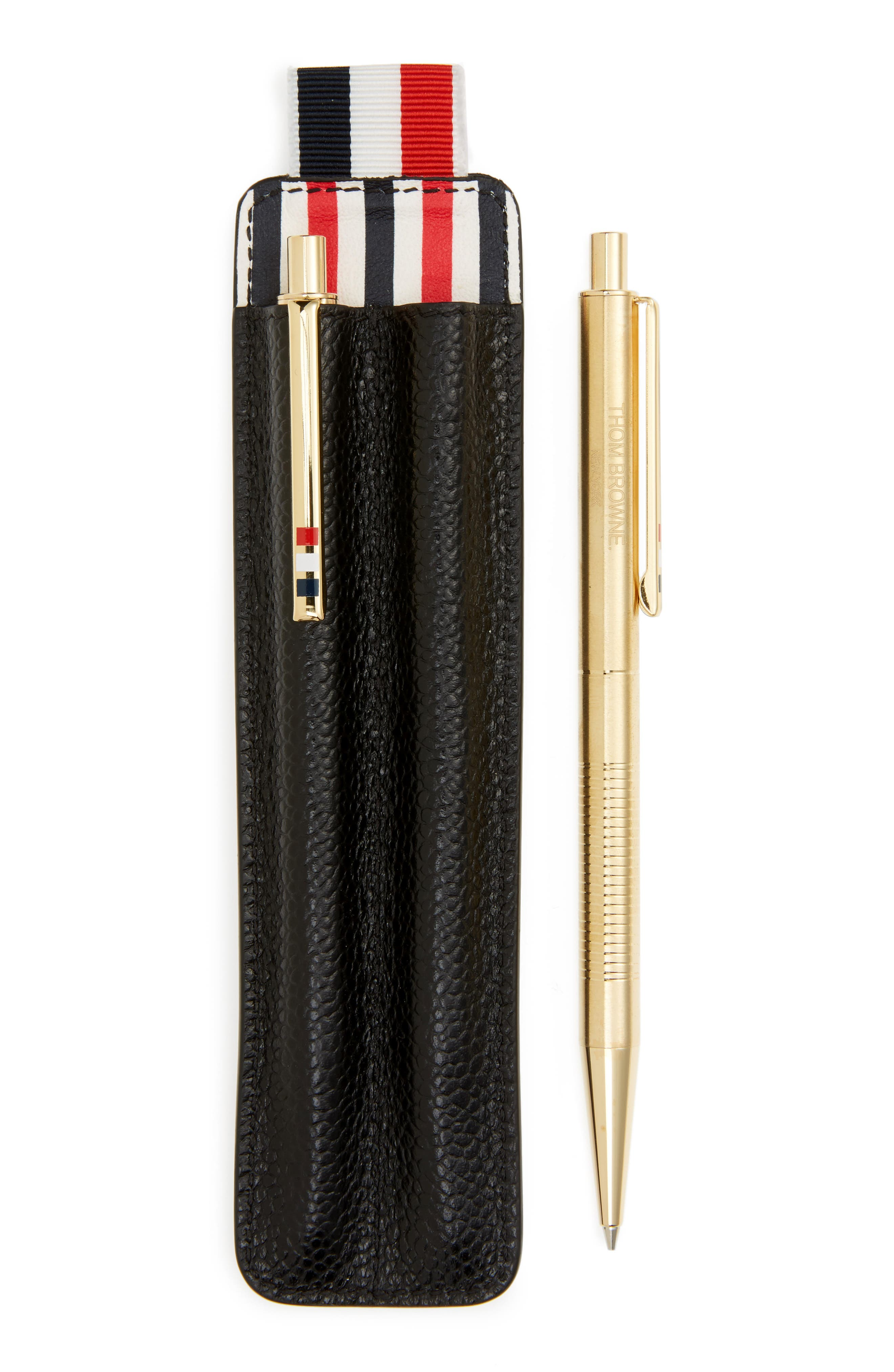 Alternate Image 1 Selected - Thom Browne Leather Pen Set & Case