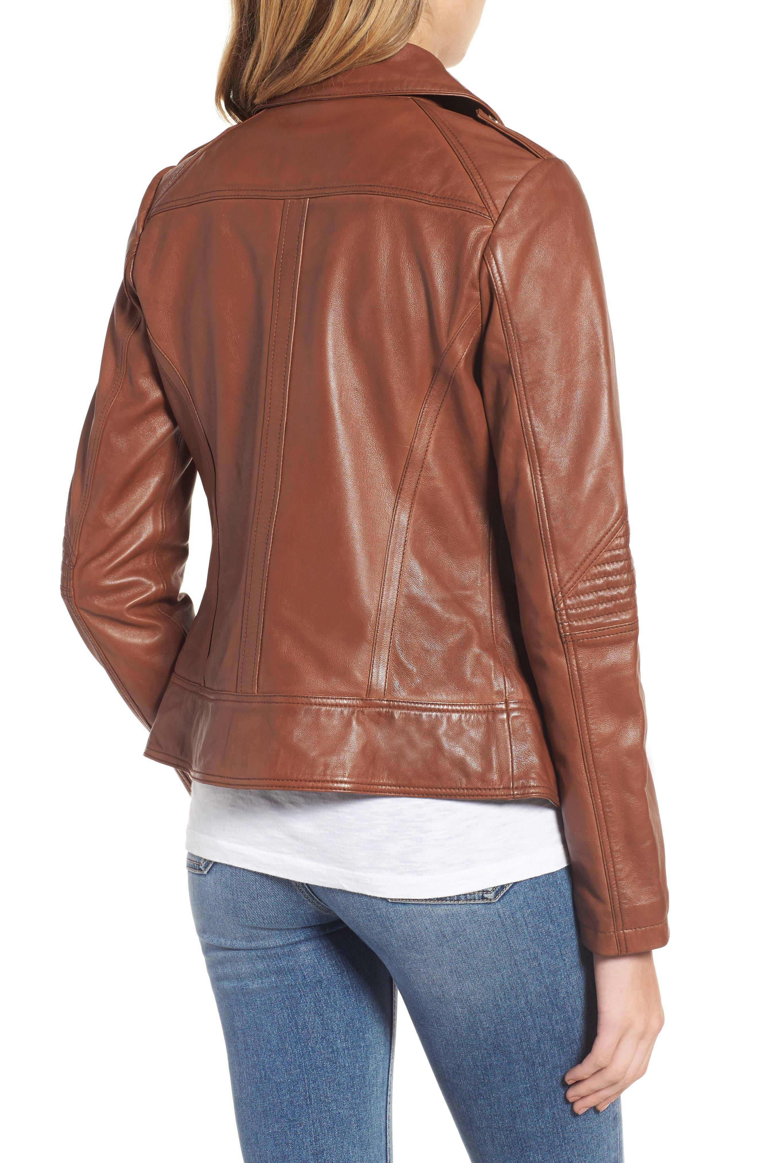 Alternate Image 2  - Guess Leather Moto Jacket
