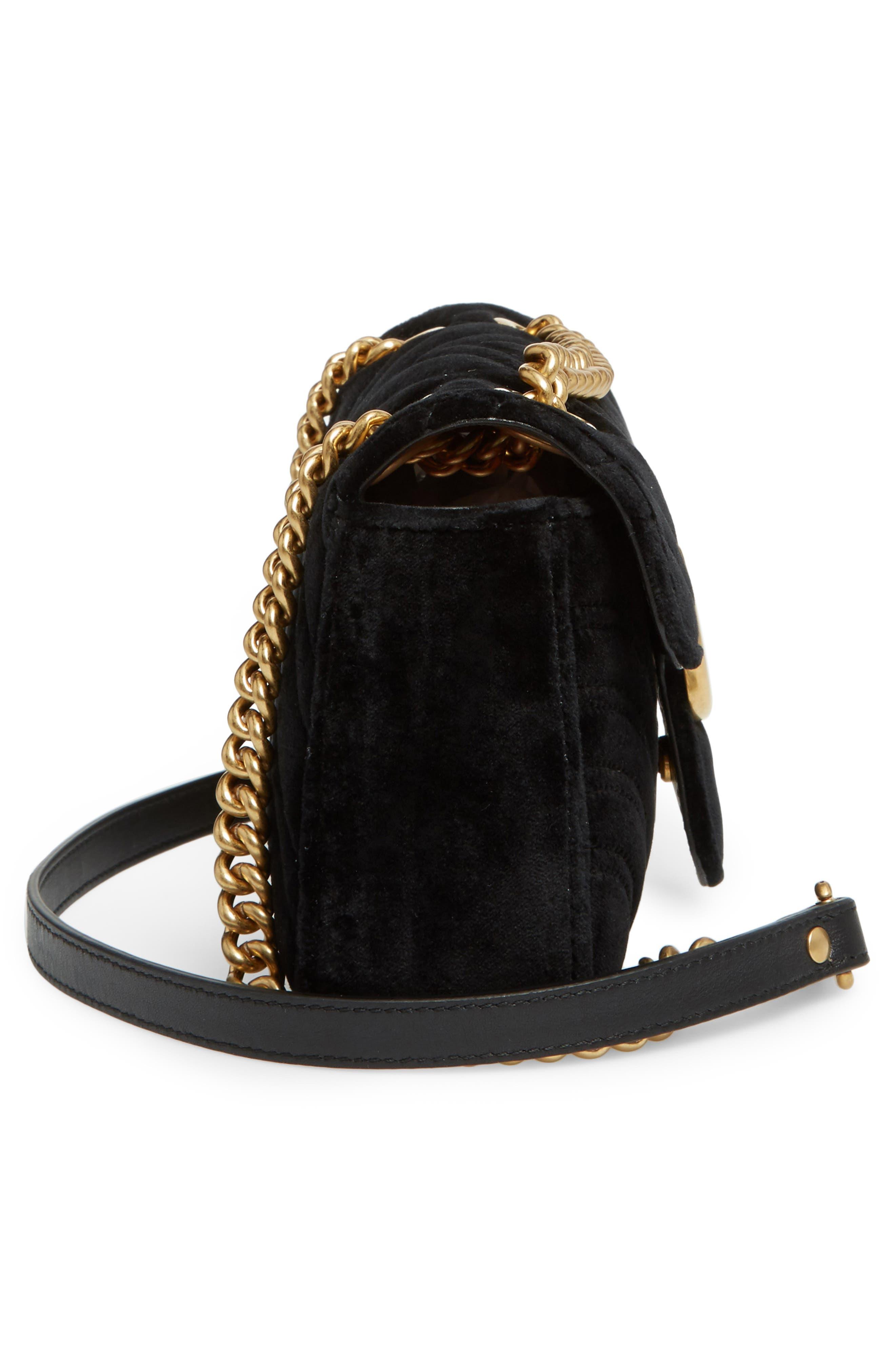Alternate Image 5  - Gucci Small GG Marmont 2.0 Matelassé Velvet Shoulder Bag